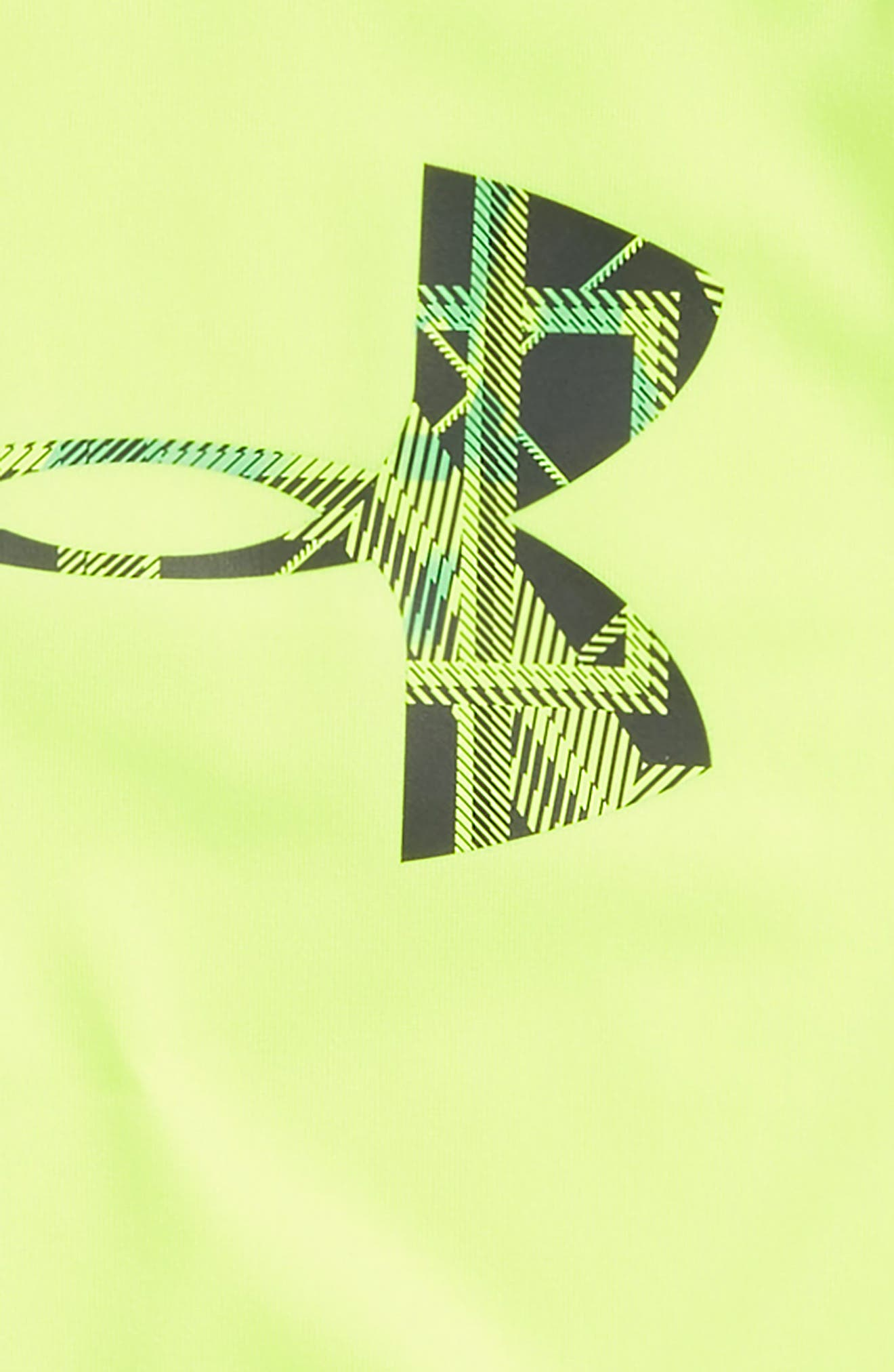 Distinction Big Logo HeatGear<sup>®</sup> T-Shirt,                             Alternate thumbnail 2, color,                             Hi Vis Yellow