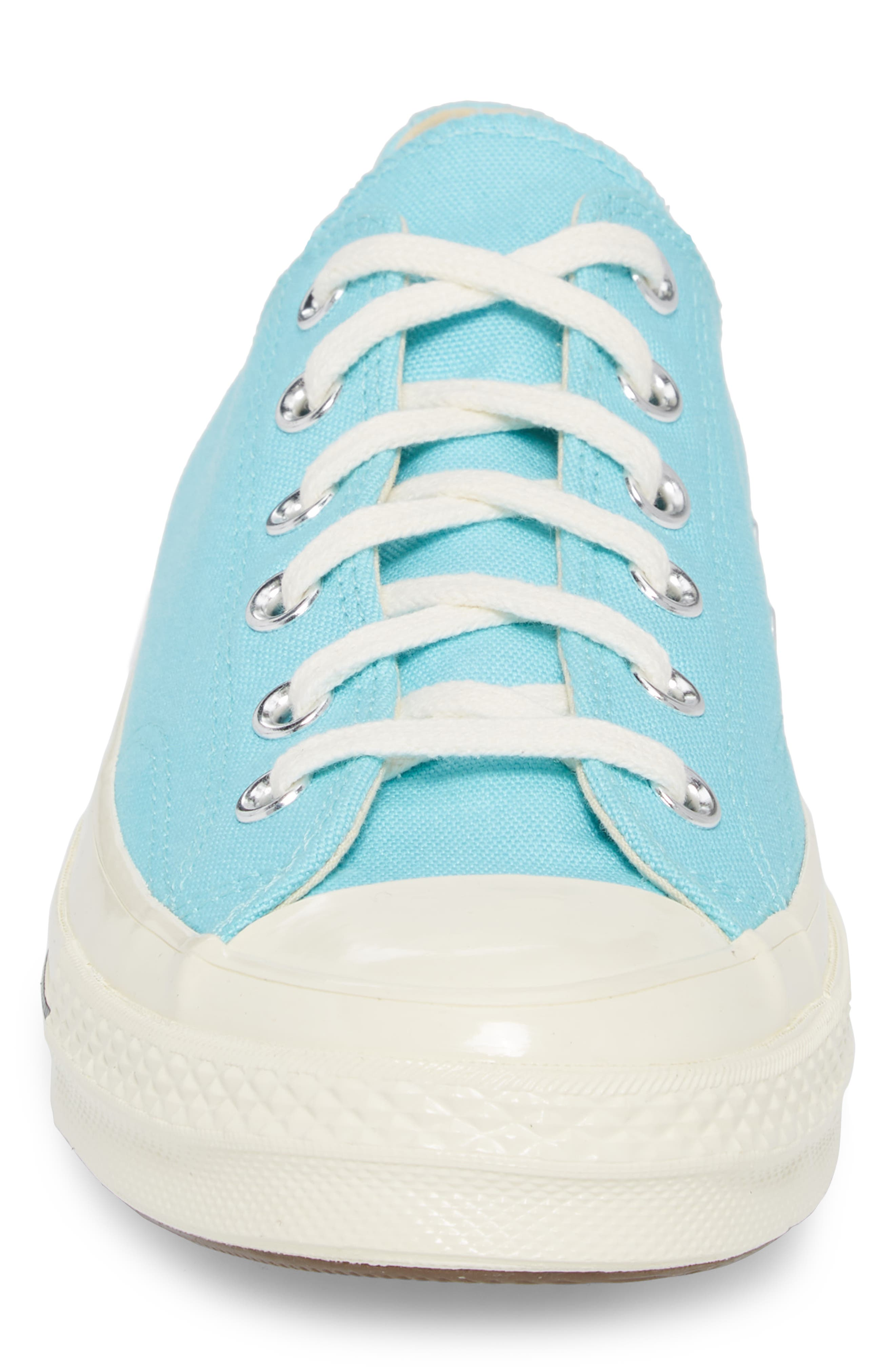 Chuck Taylor<sup>®</sup> All Star<sup>®</sup> 70 Brights Low Top Sneaker,                             Alternate thumbnail 4, color,                             Beached Aqua