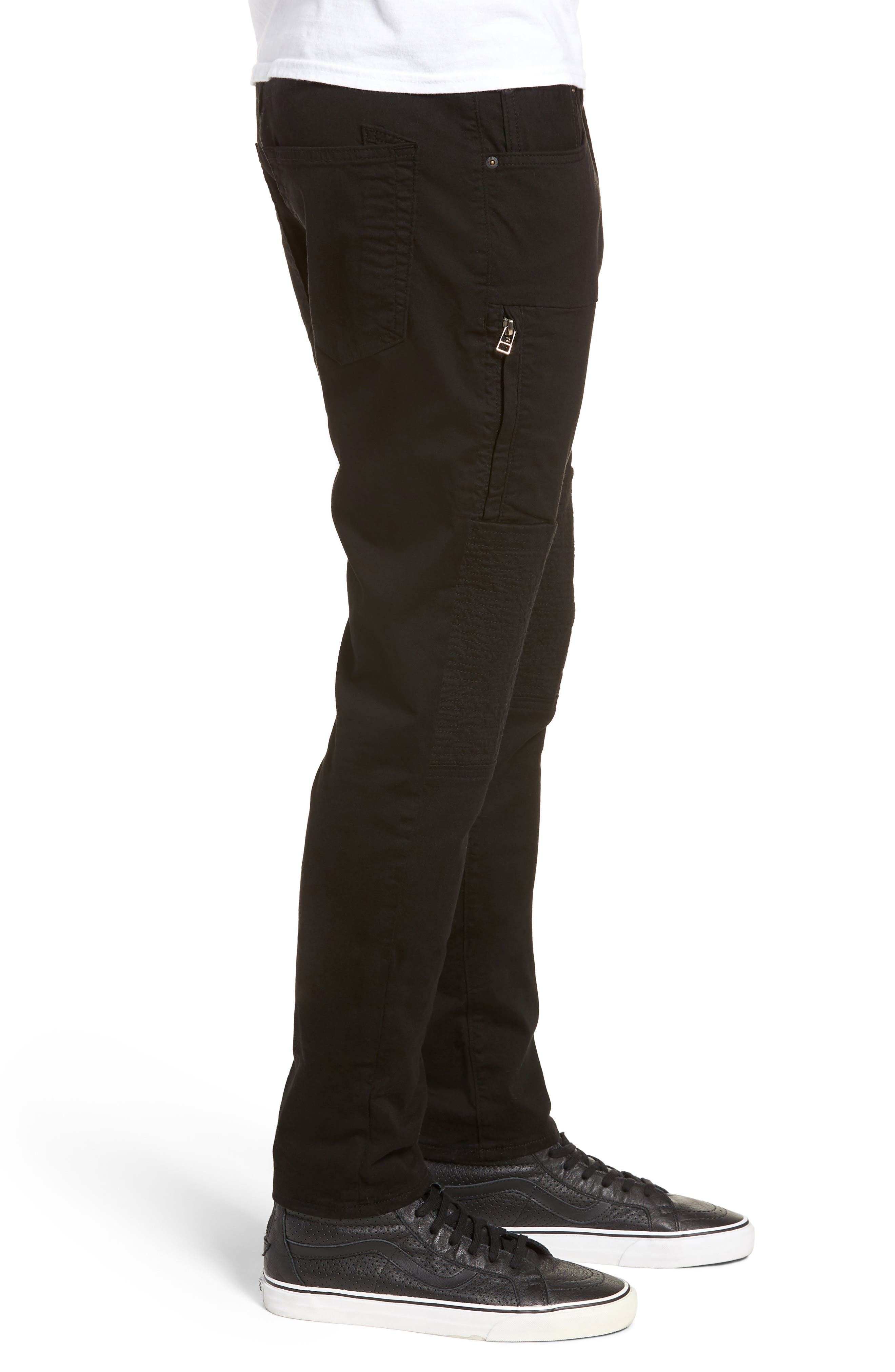 Le Sabre Slim Fit Jeans,                             Alternate thumbnail 3, color,                             Black