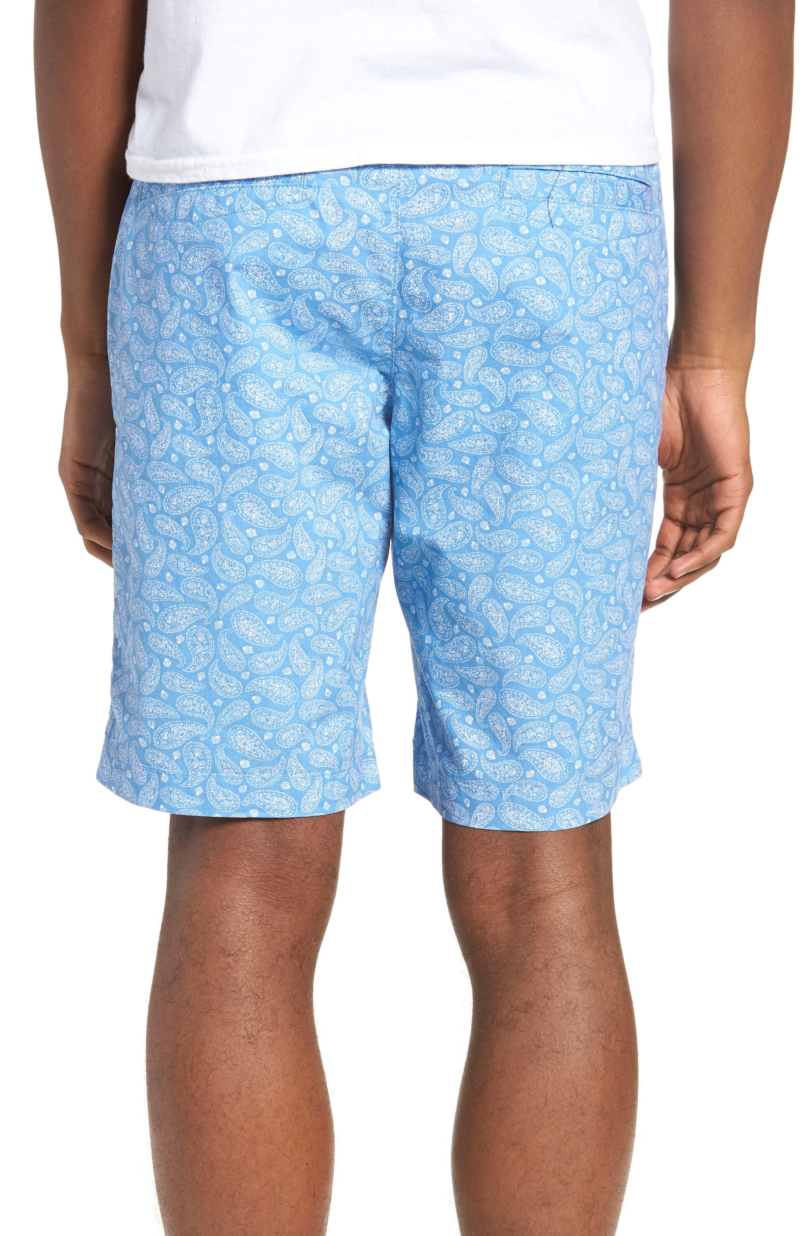 Bandana Paisley Print Shorts,                             Alternate thumbnail 2, color,                             Blue Lake Bandana Paisley