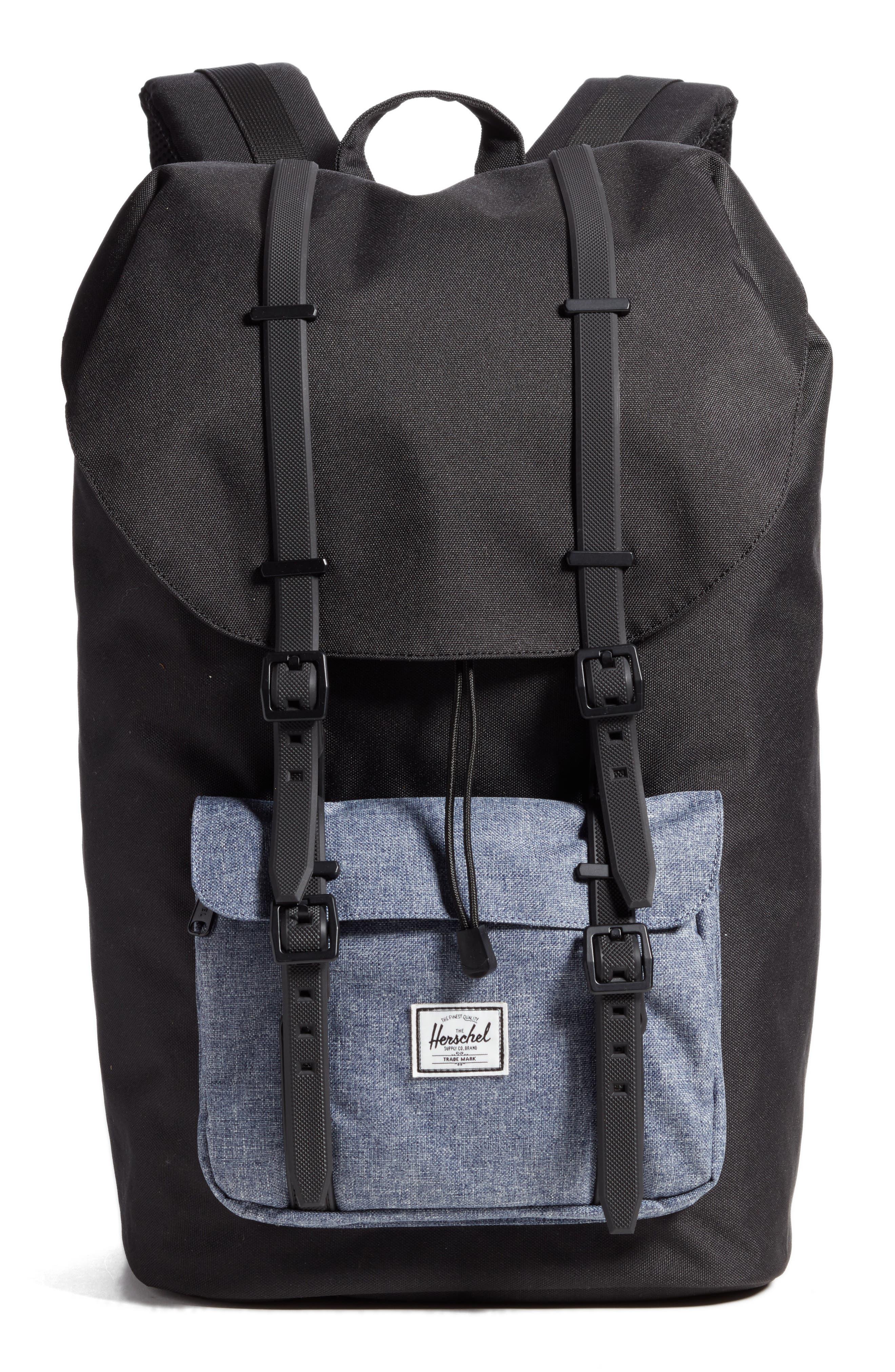 Little America - Chambray Backpack,                             Main thumbnail 1, color,                             Black/ Dark Chambray