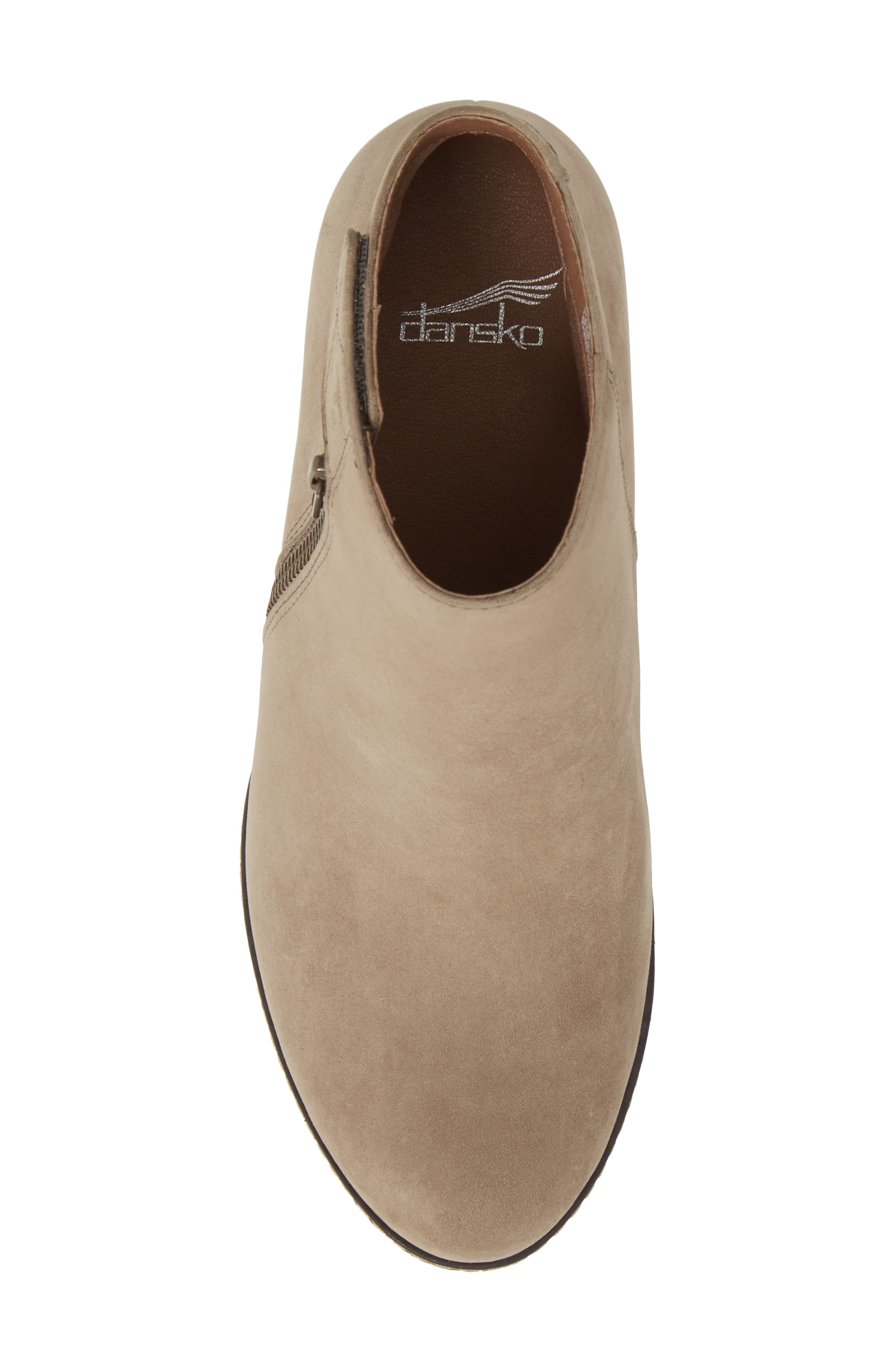 Leanna Bootie,                             Alternate thumbnail 5, color,                             Taupe Burnished Nubuck