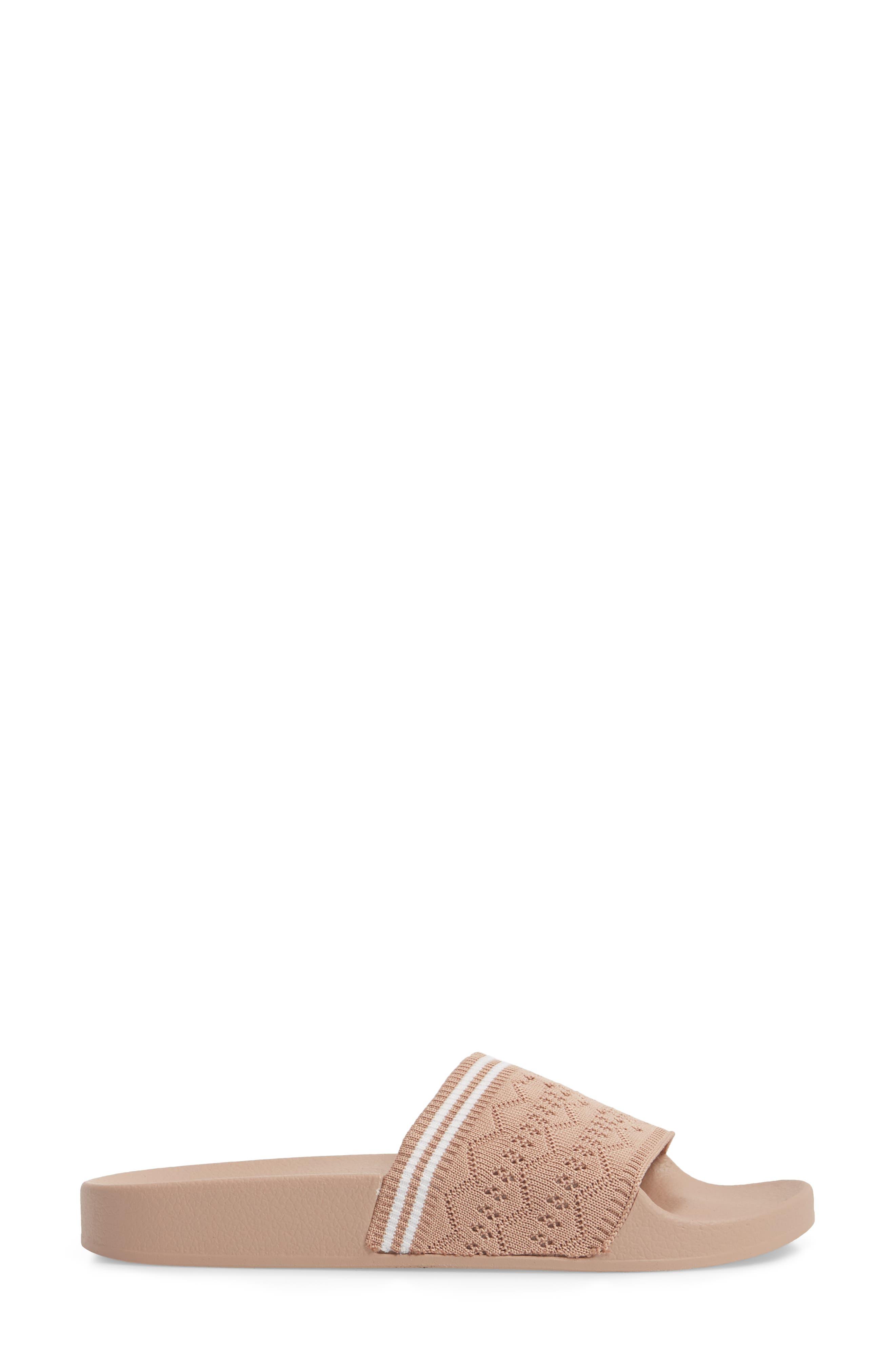 Vibe Sock Knit Slide Sandal,                             Alternate thumbnail 3, color,                             Blush