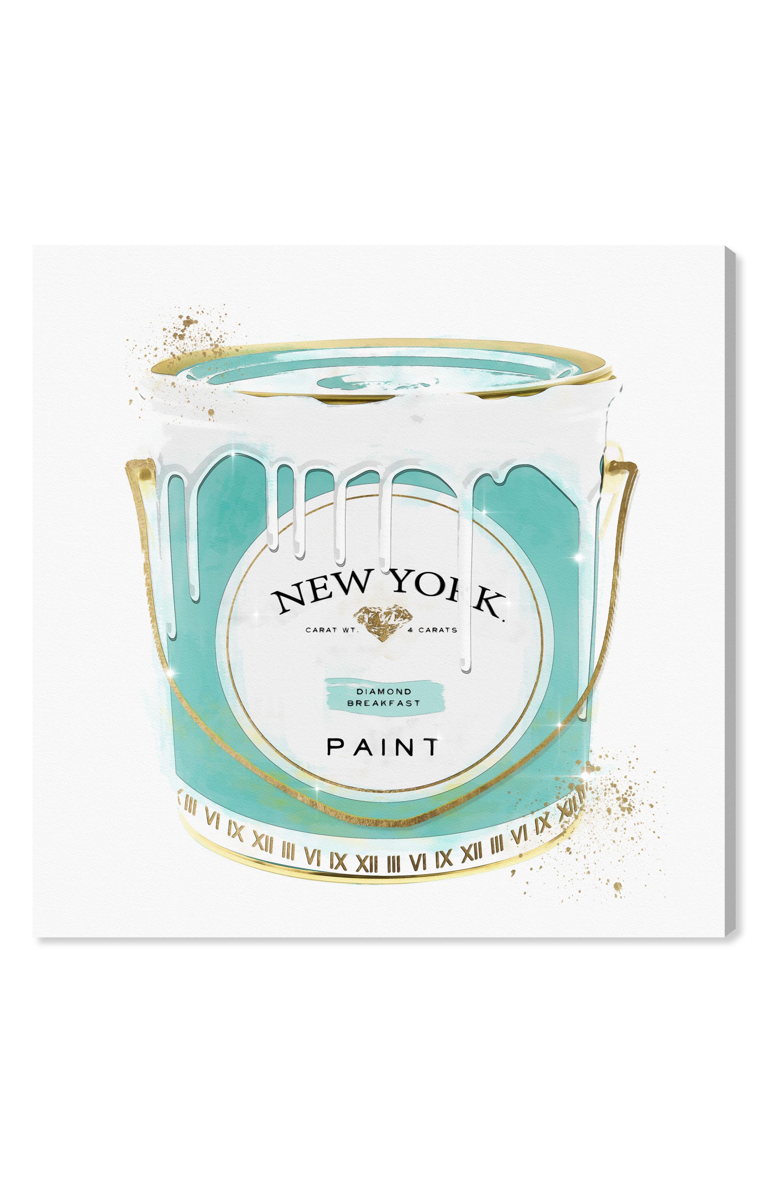 New York Fashion Paint Canvas Wall Art,                             Main thumbnail 1, color,                             Green