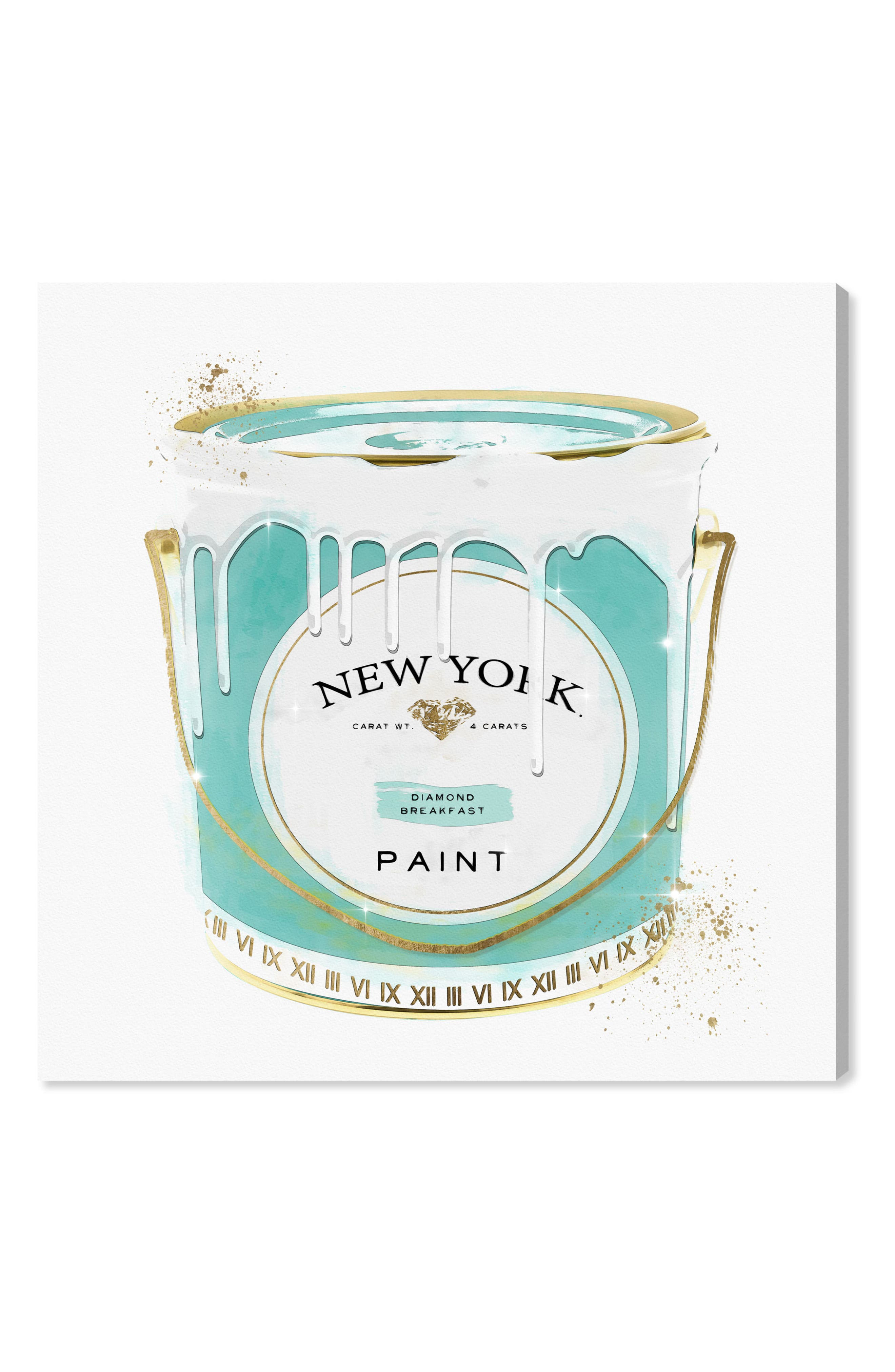 New York Fashion Paint Canvas Wall Art,                         Main,                         color, Green