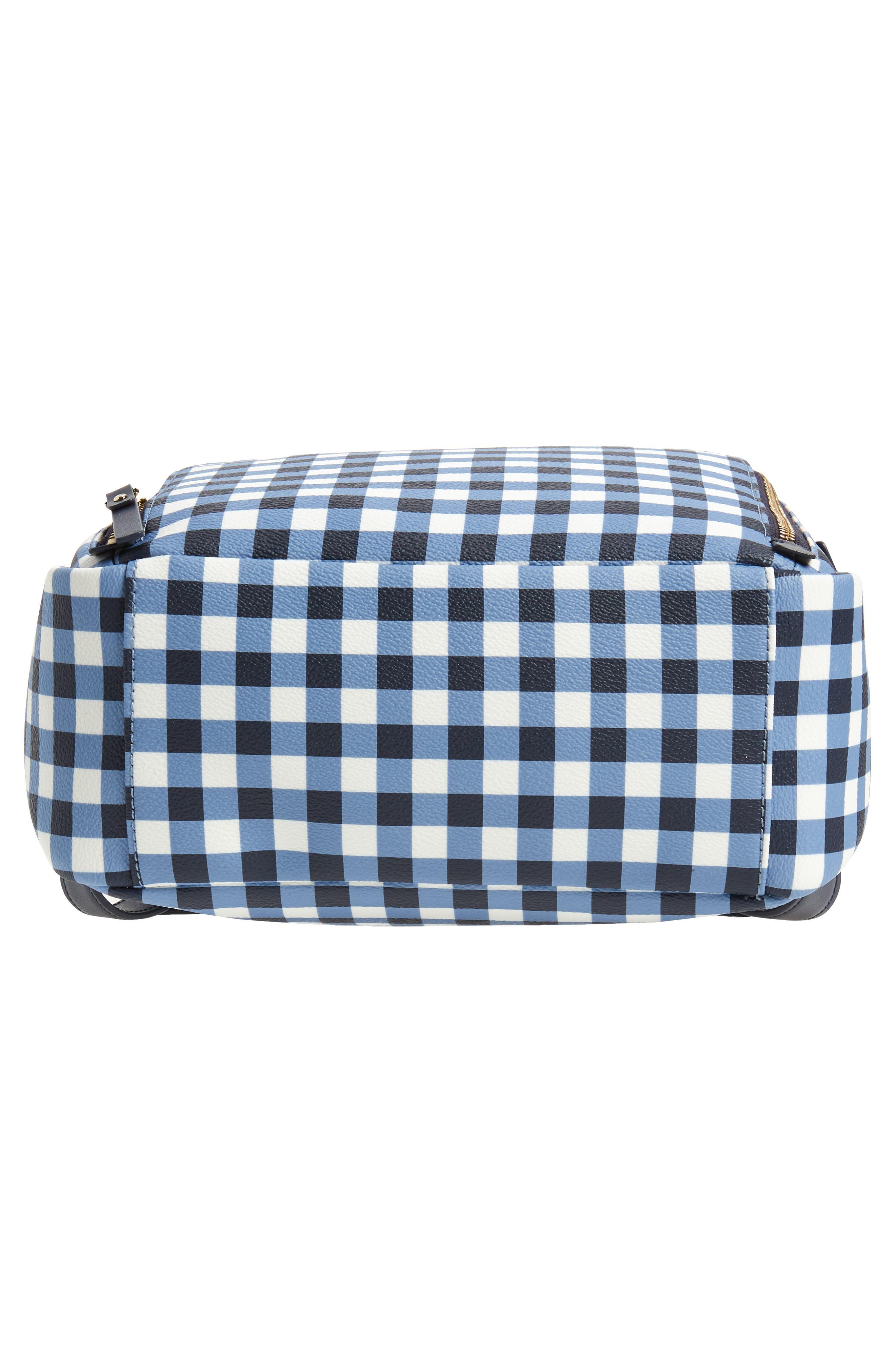 hyde lane hartley gingham backpack,                             Alternate thumbnail 6, color,                             Navy/ White