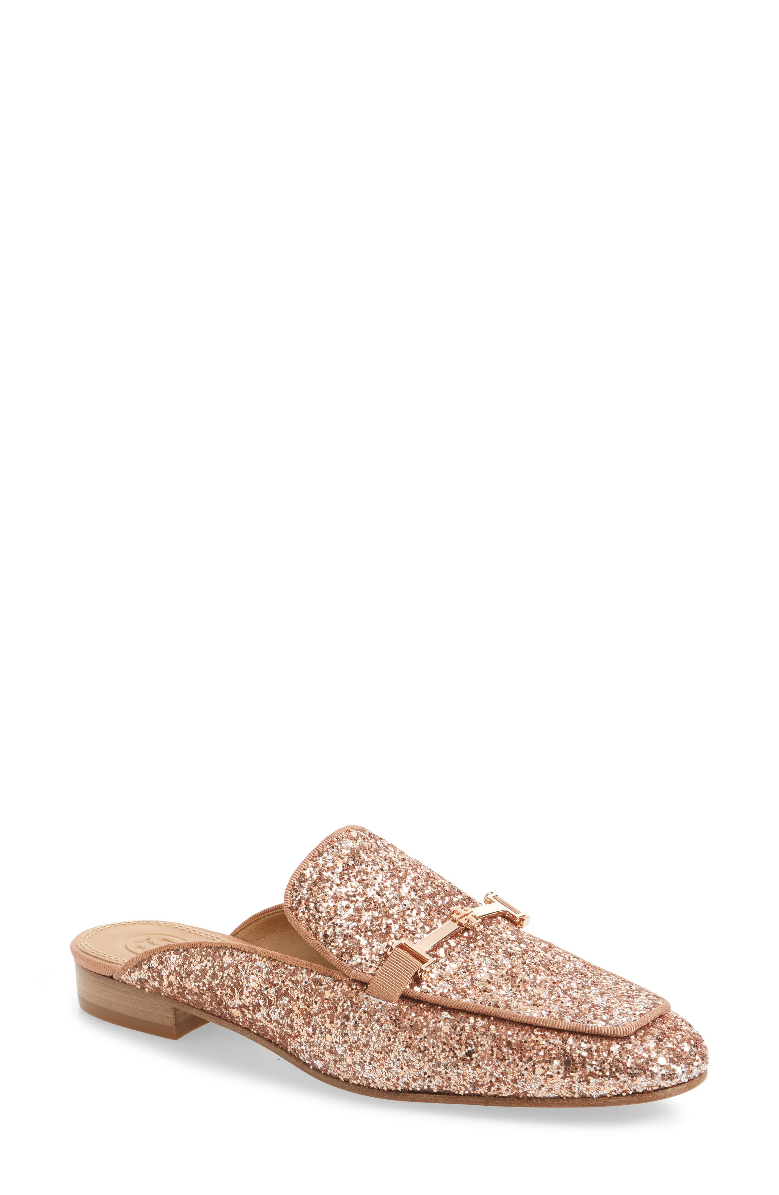 Amelia Loafer Mule,                         Main,                         color, Rose Gold/ Rose Gold