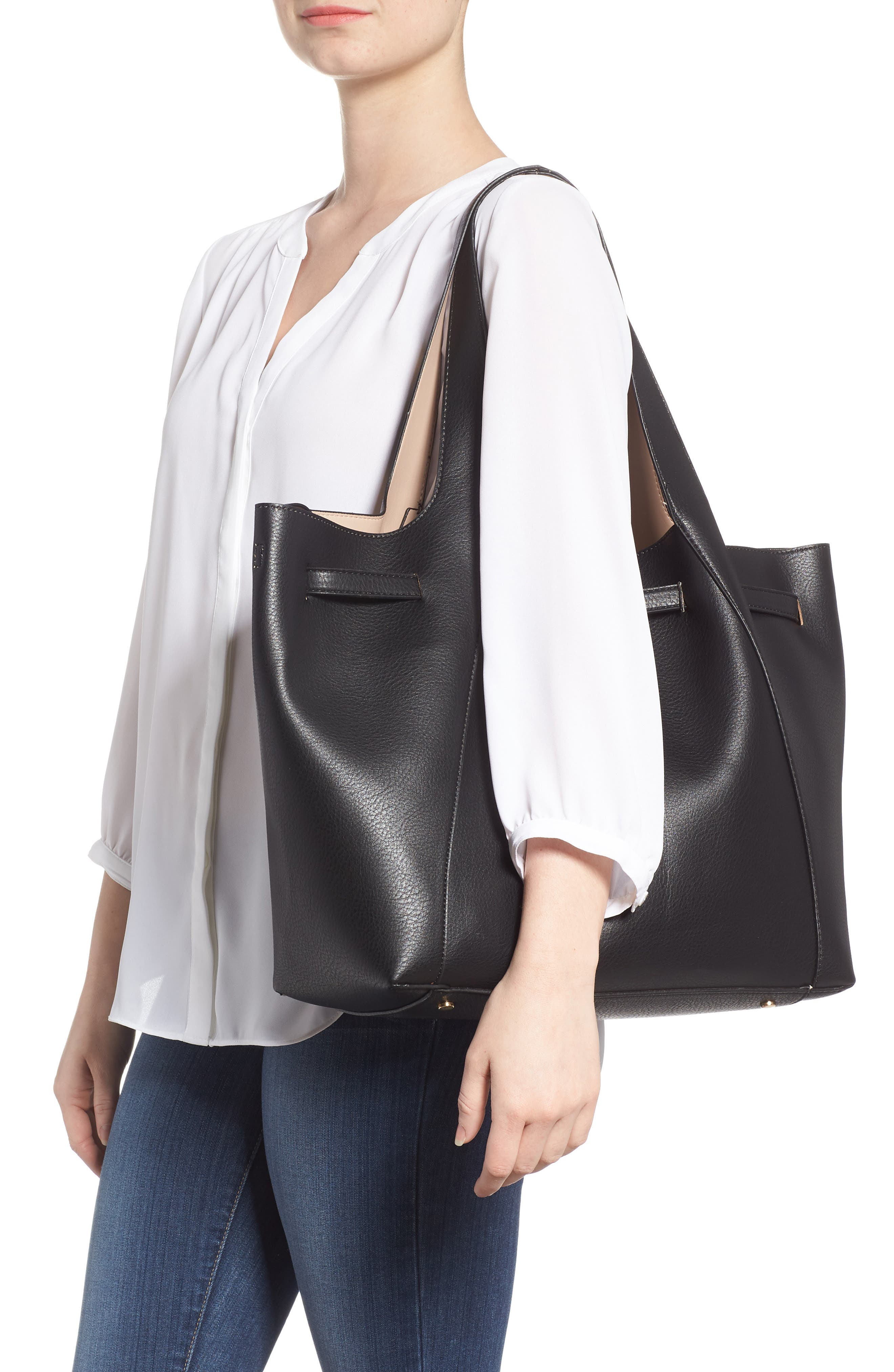 Keely Tote Bag,                             Alternate thumbnail 2, color,                             Black
