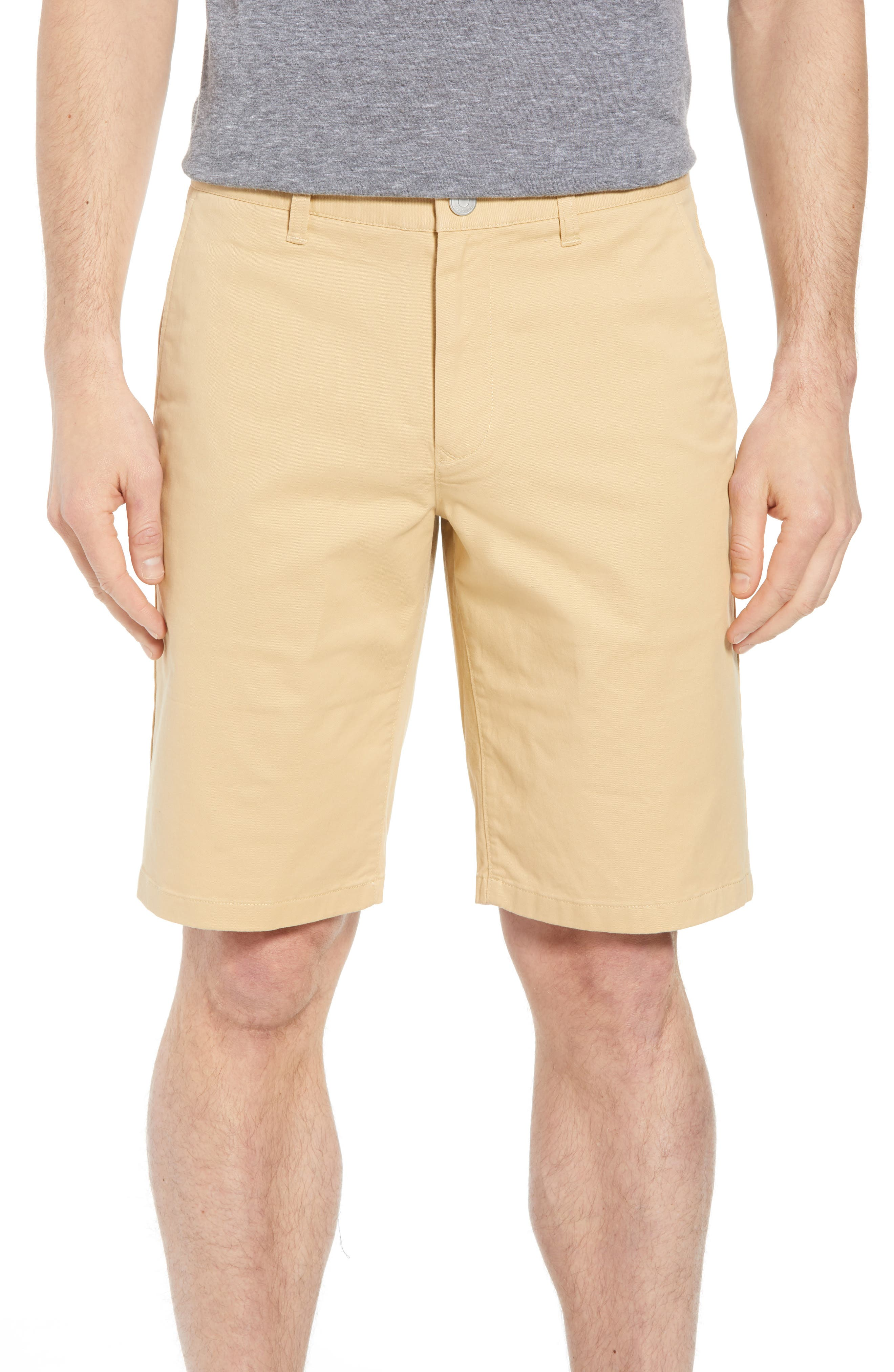 Stretch Washed Chino 11-Inch Shorts,                         Main,                         color, Gold Khaki