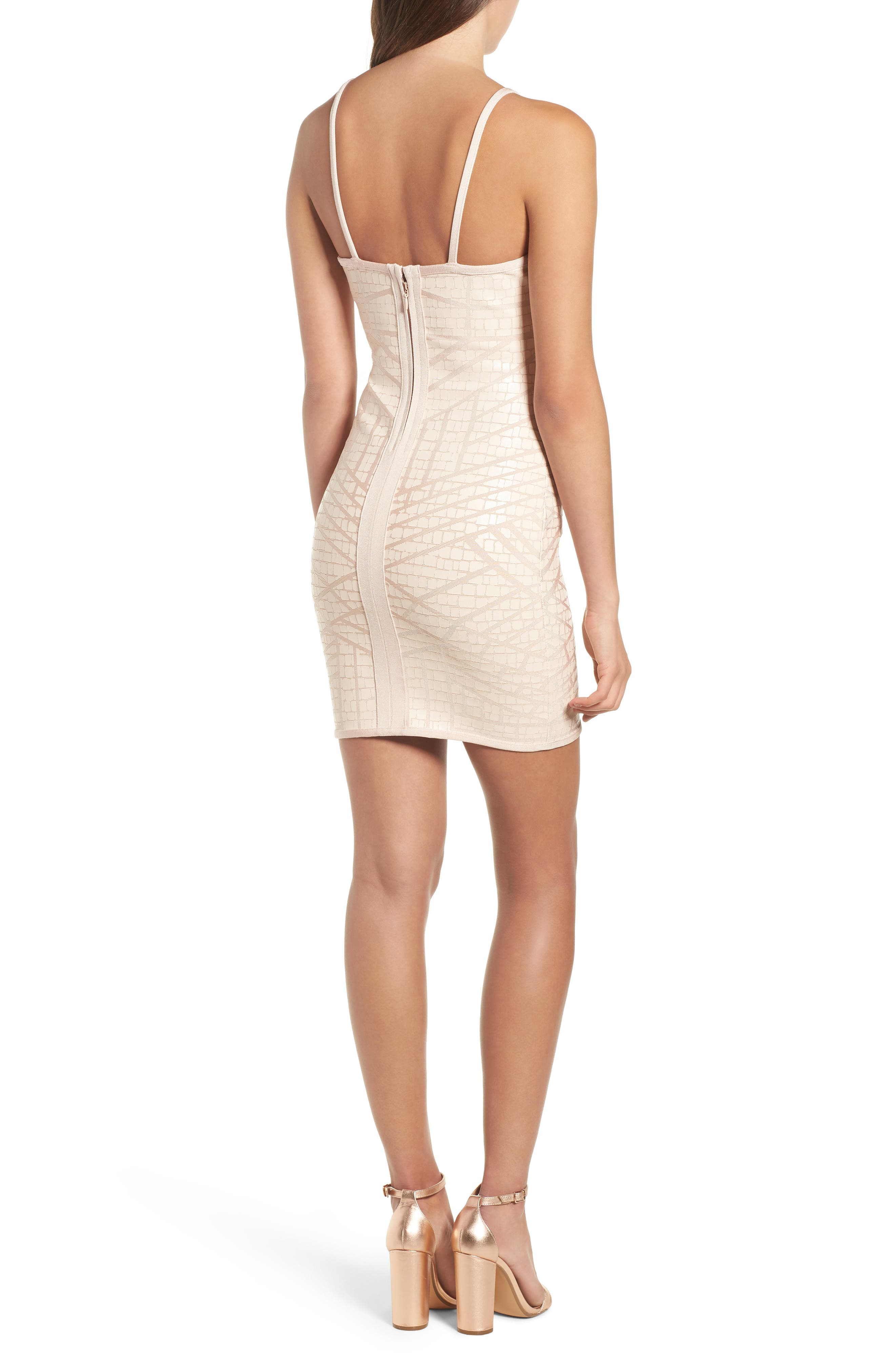 Bandage Body-Con Dress,                             Alternate thumbnail 2, color,                             Nude