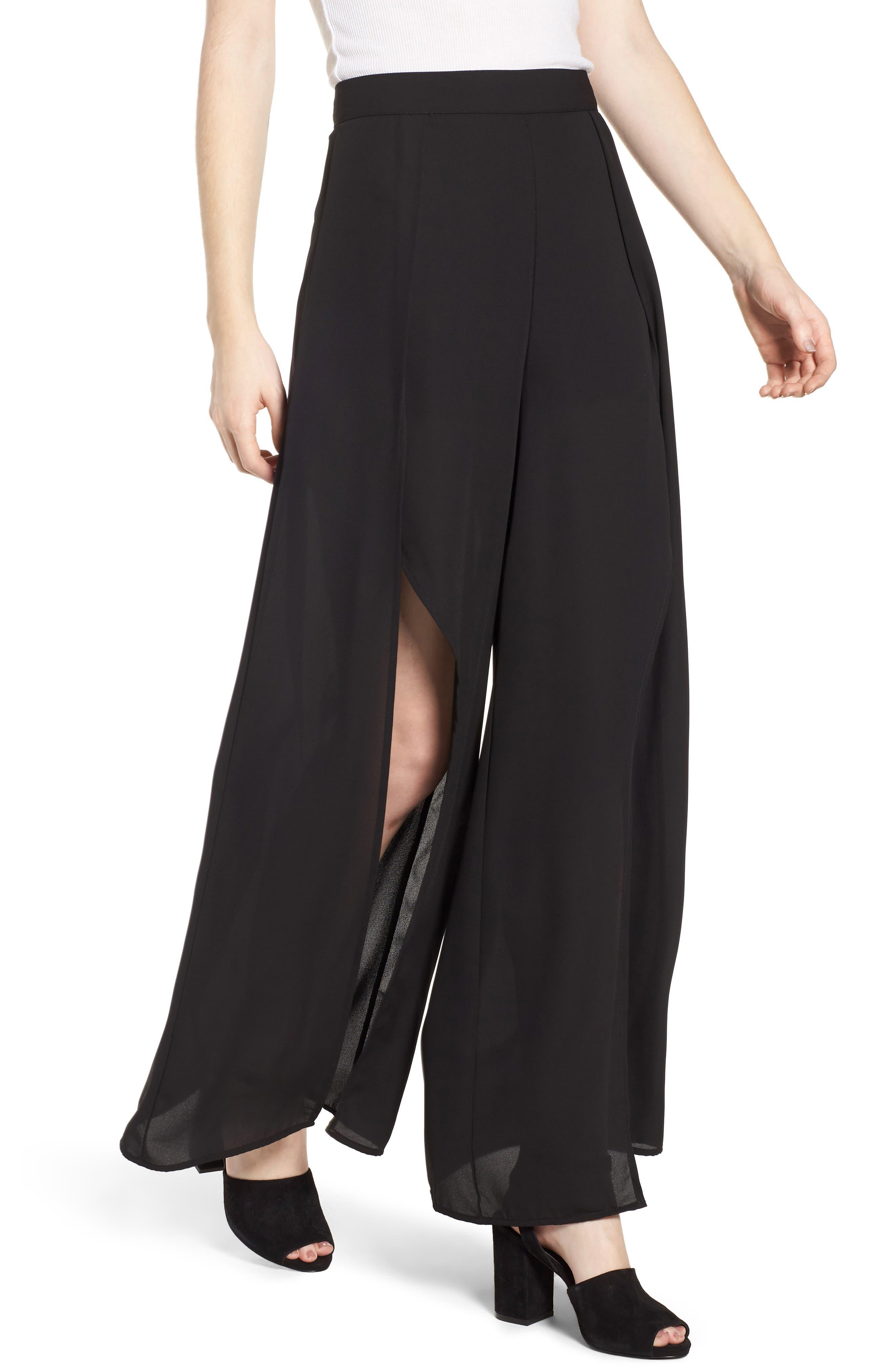 4SI3NNA Wide Leg Wrap Pants