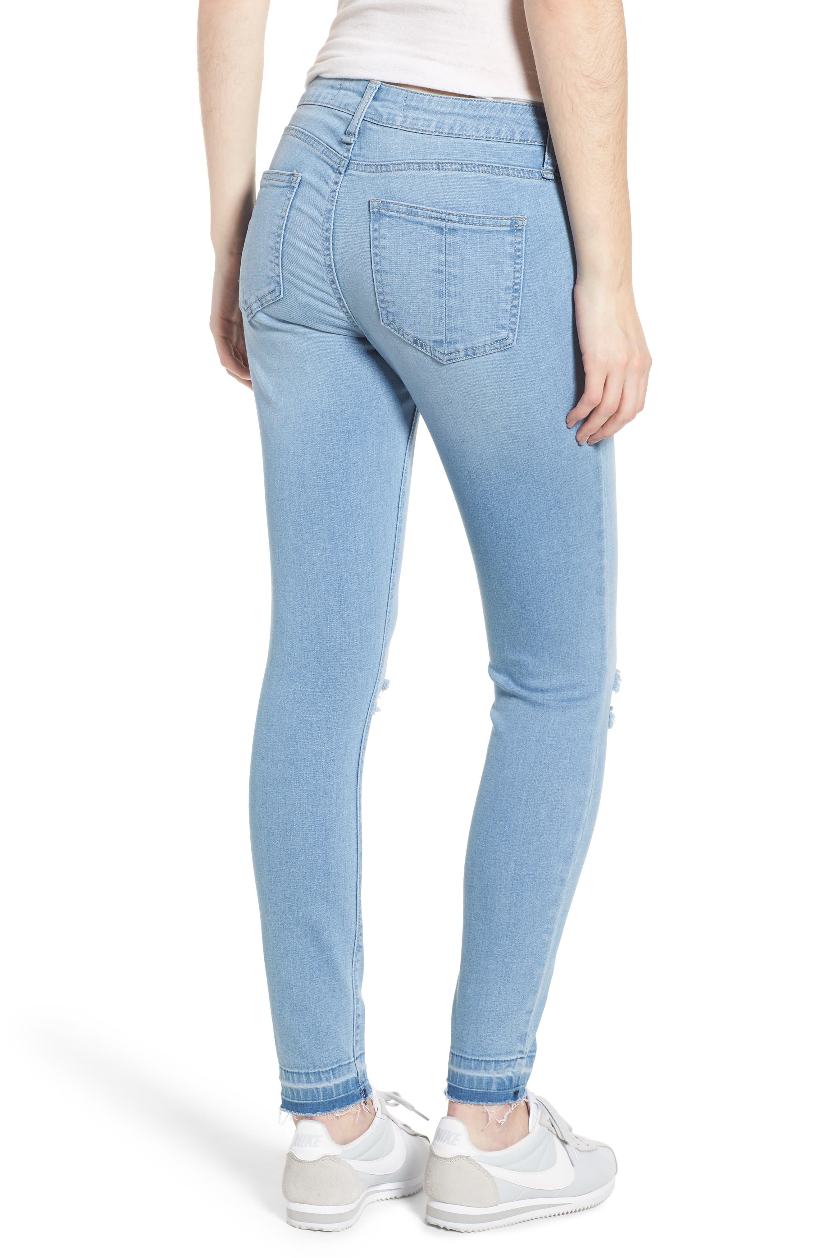 Release Hem Skinny Jeans,                             Alternate thumbnail 2, color,                             Ashley