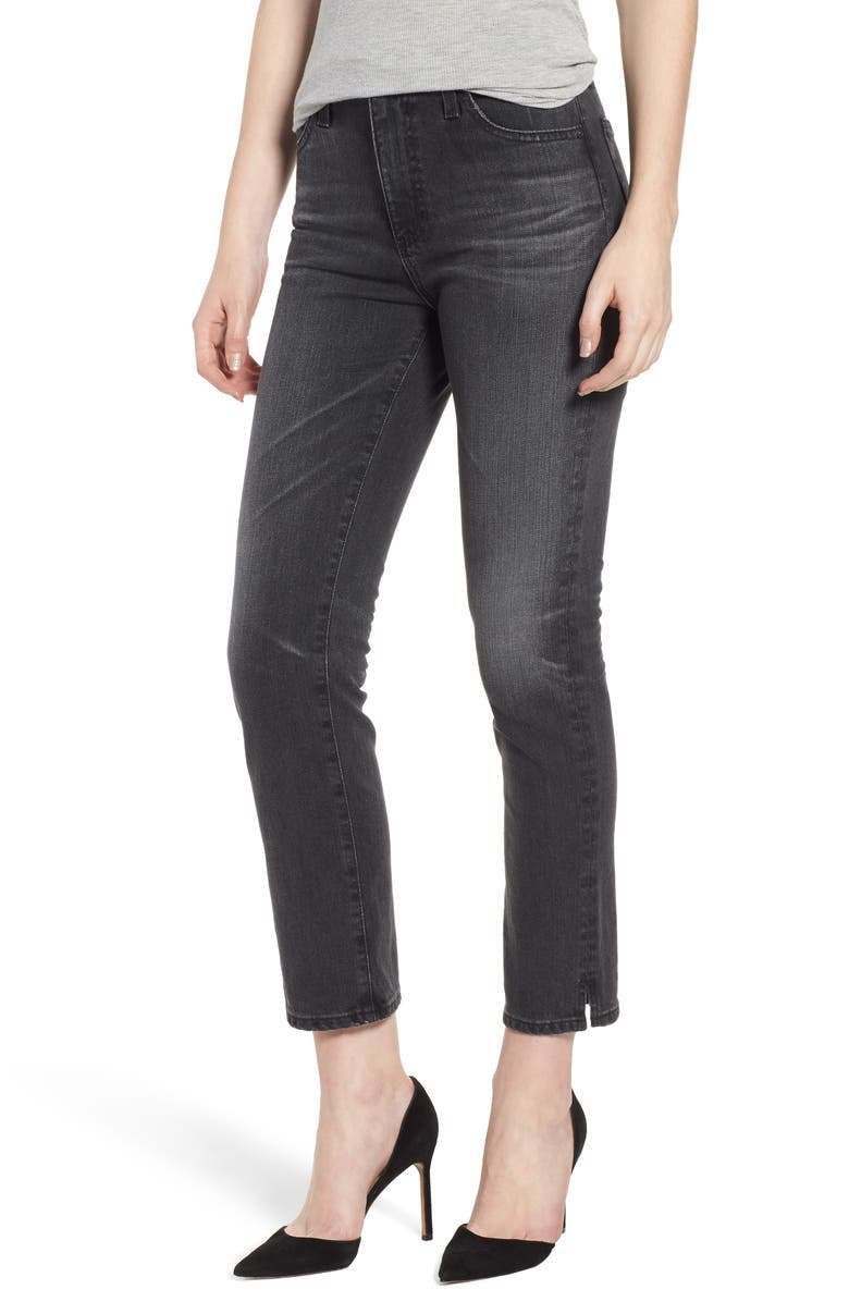 The Isabelle High Waist Ankle Straight Leg Jeans
