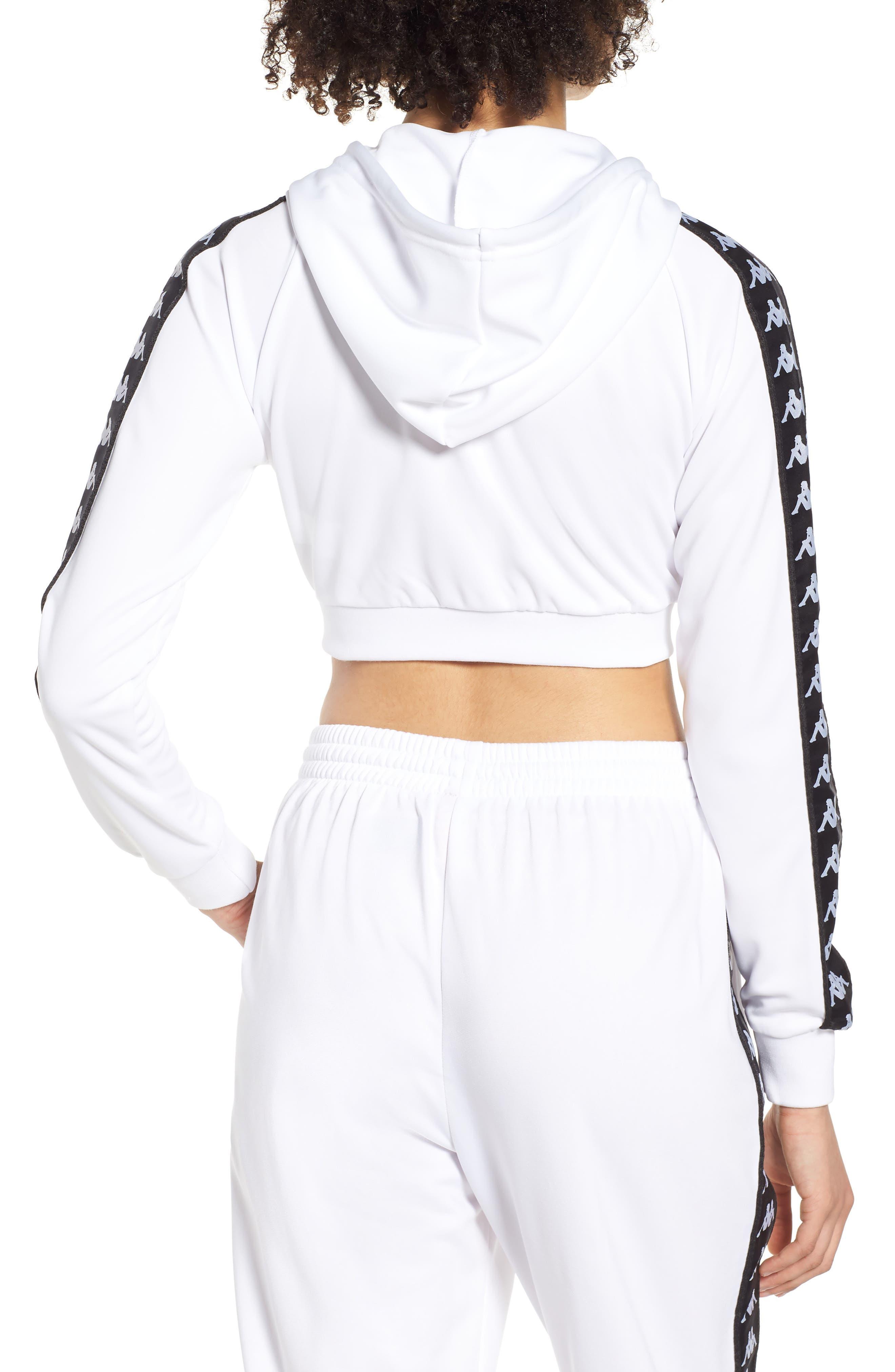 Banda Arakli Crop Jacket,                             Alternate thumbnail 2, color,                             White-Black