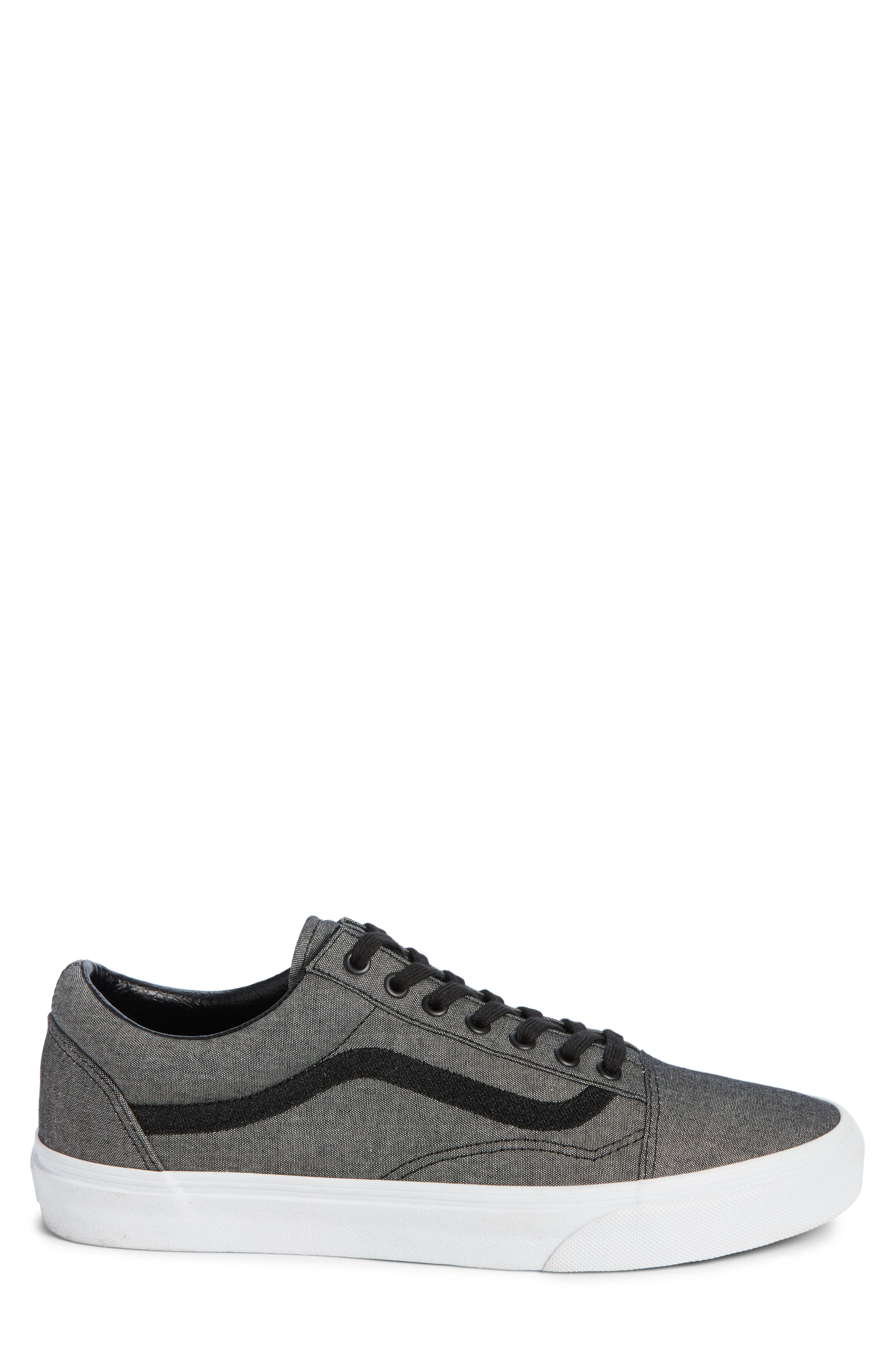 Old Skool Sneaker,                             Alternate thumbnail 3, color,                             Black/ True White/ Grey
