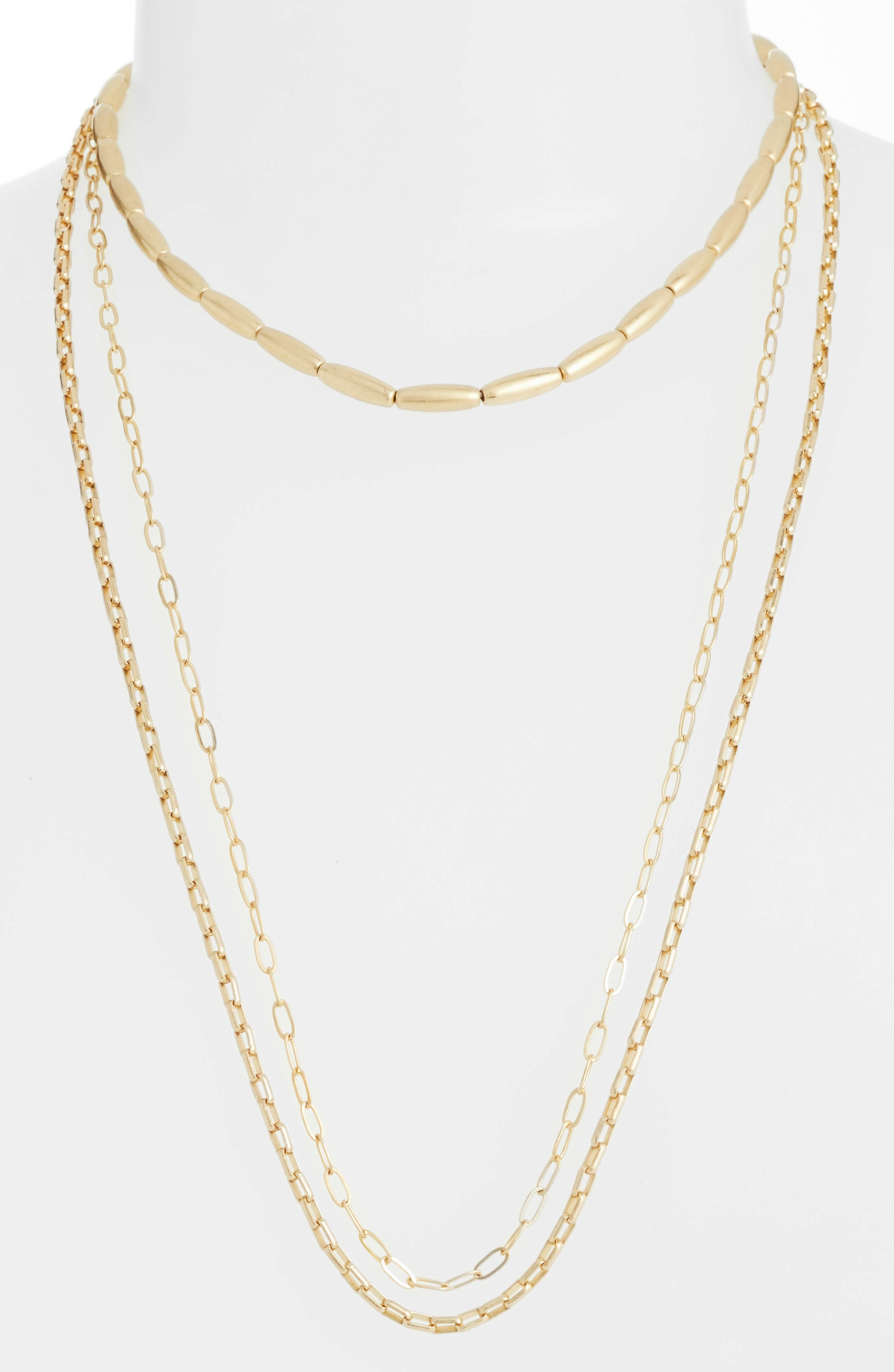 Sadie Strands Layered Necklace,                         Main,                         color, Gold