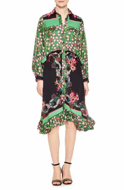 sandro Pattern Mix Shirtdress
