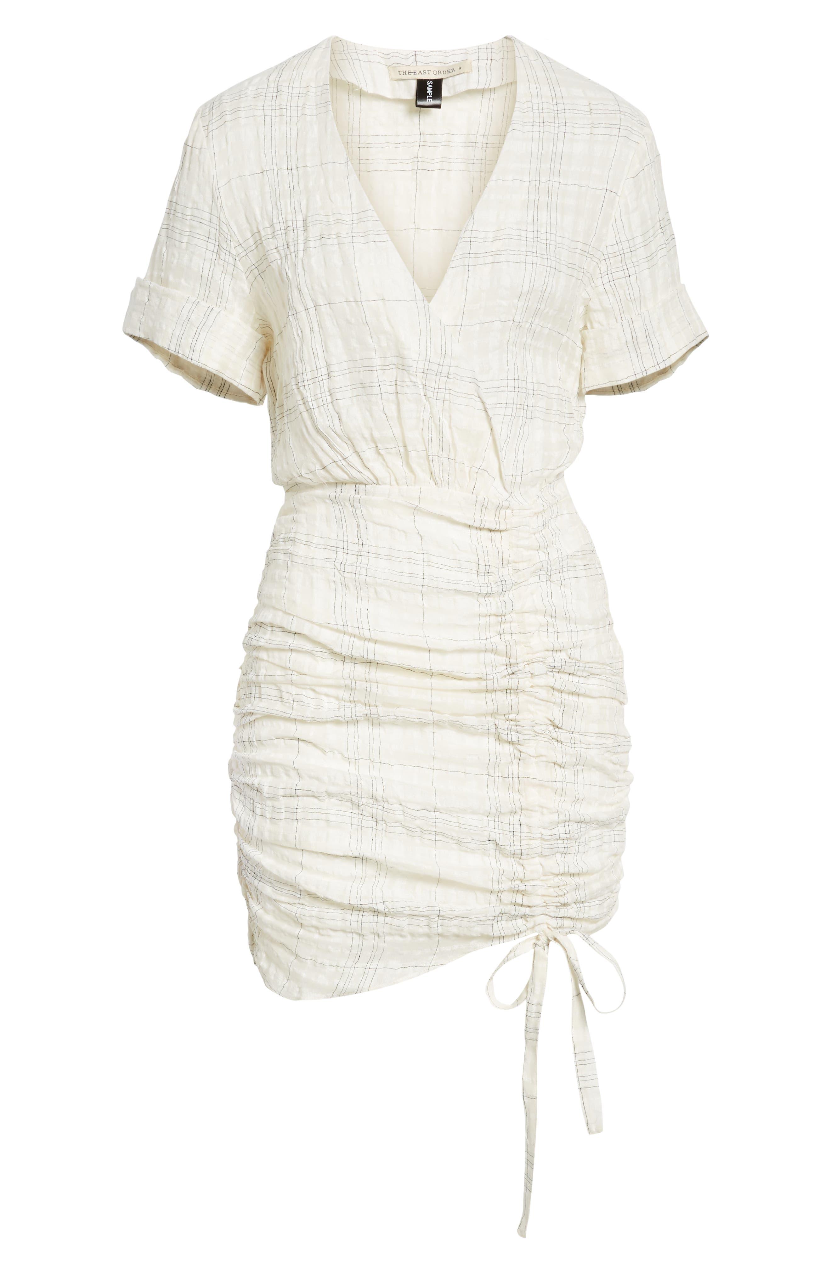Freja Ruched Dress,                             Alternate thumbnail 7, color,                             Picnic Check