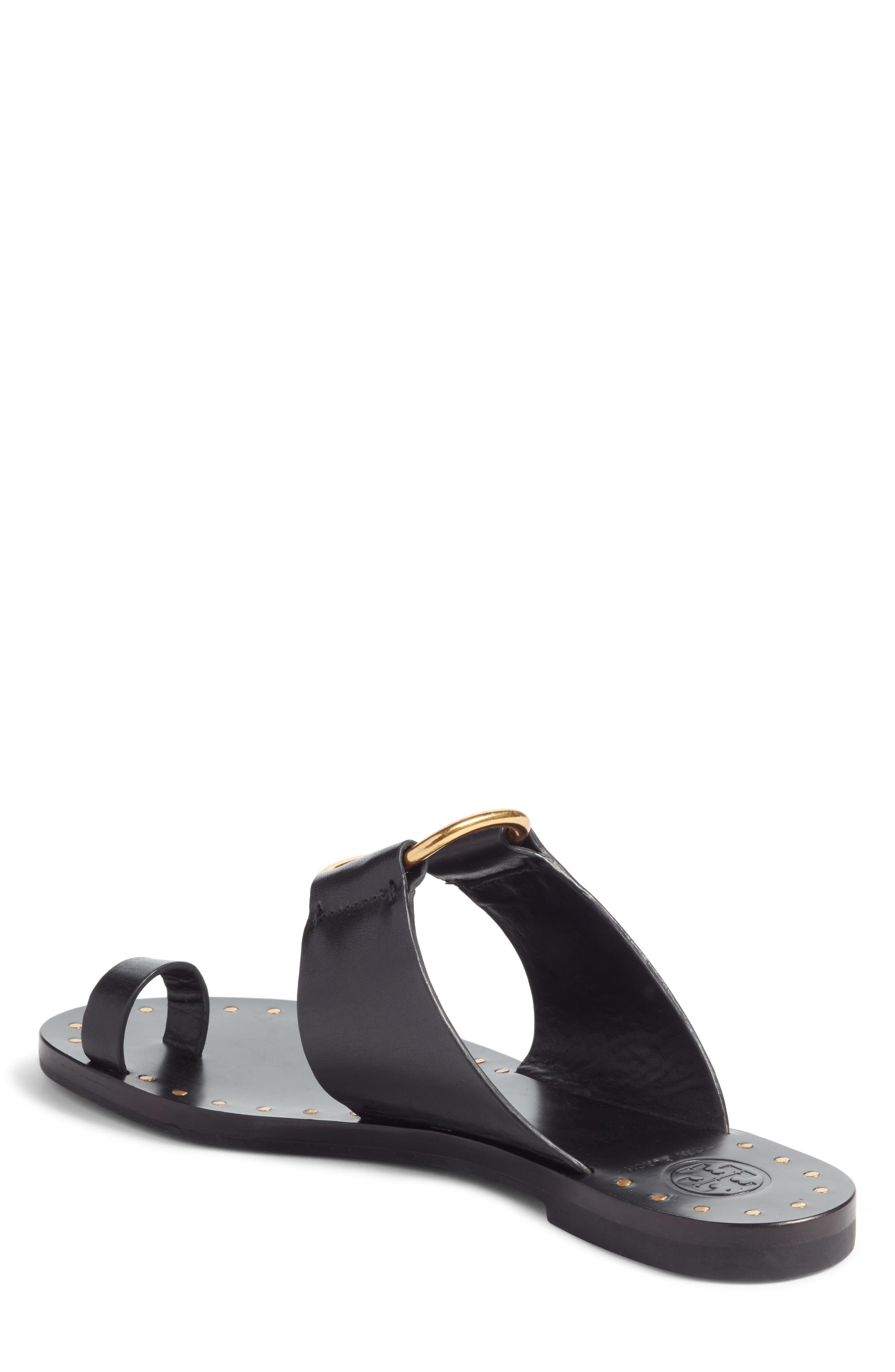 Brannan Studded Sandal,                             Alternate thumbnail 2, color,                             Perfect Black