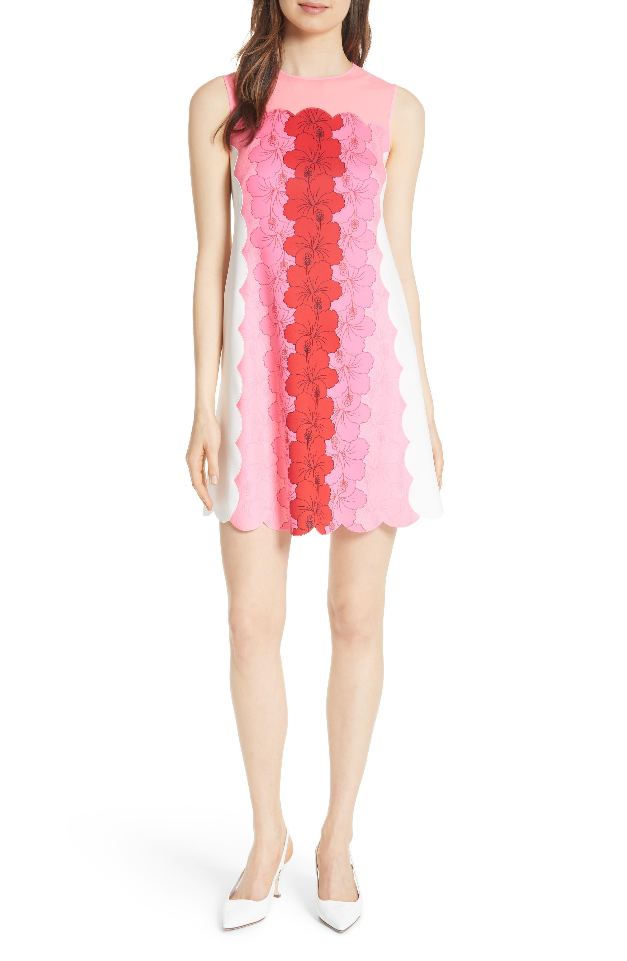 Angge Happiness Dress,                             Main thumbnail 1, color,                             Neon Pink