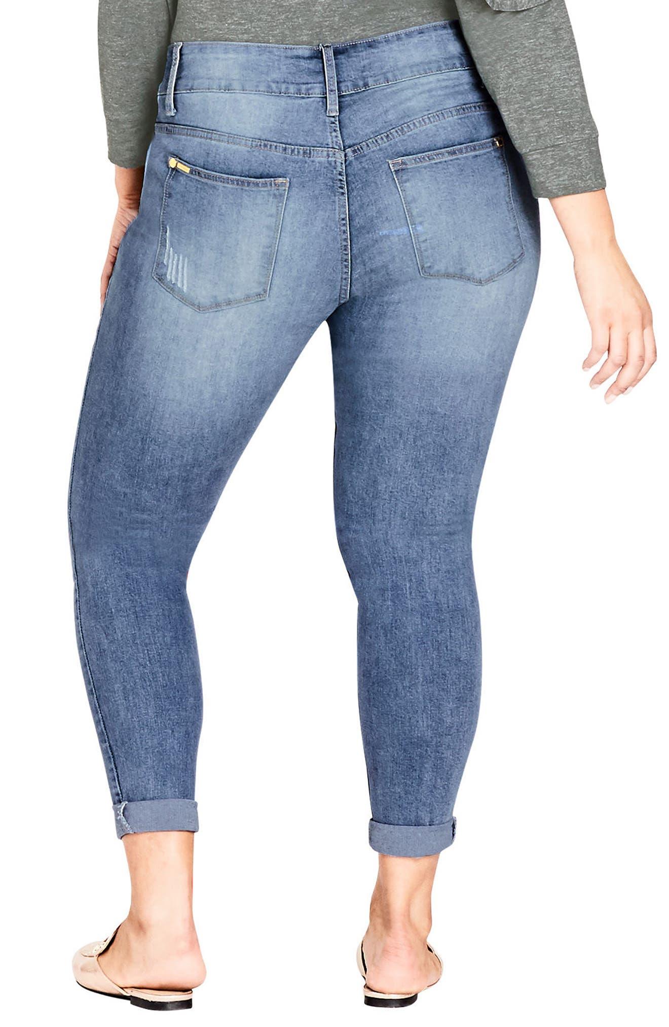 Ripped Up Skinny Jeans,                             Alternate thumbnail 2, color,                             Light Denim