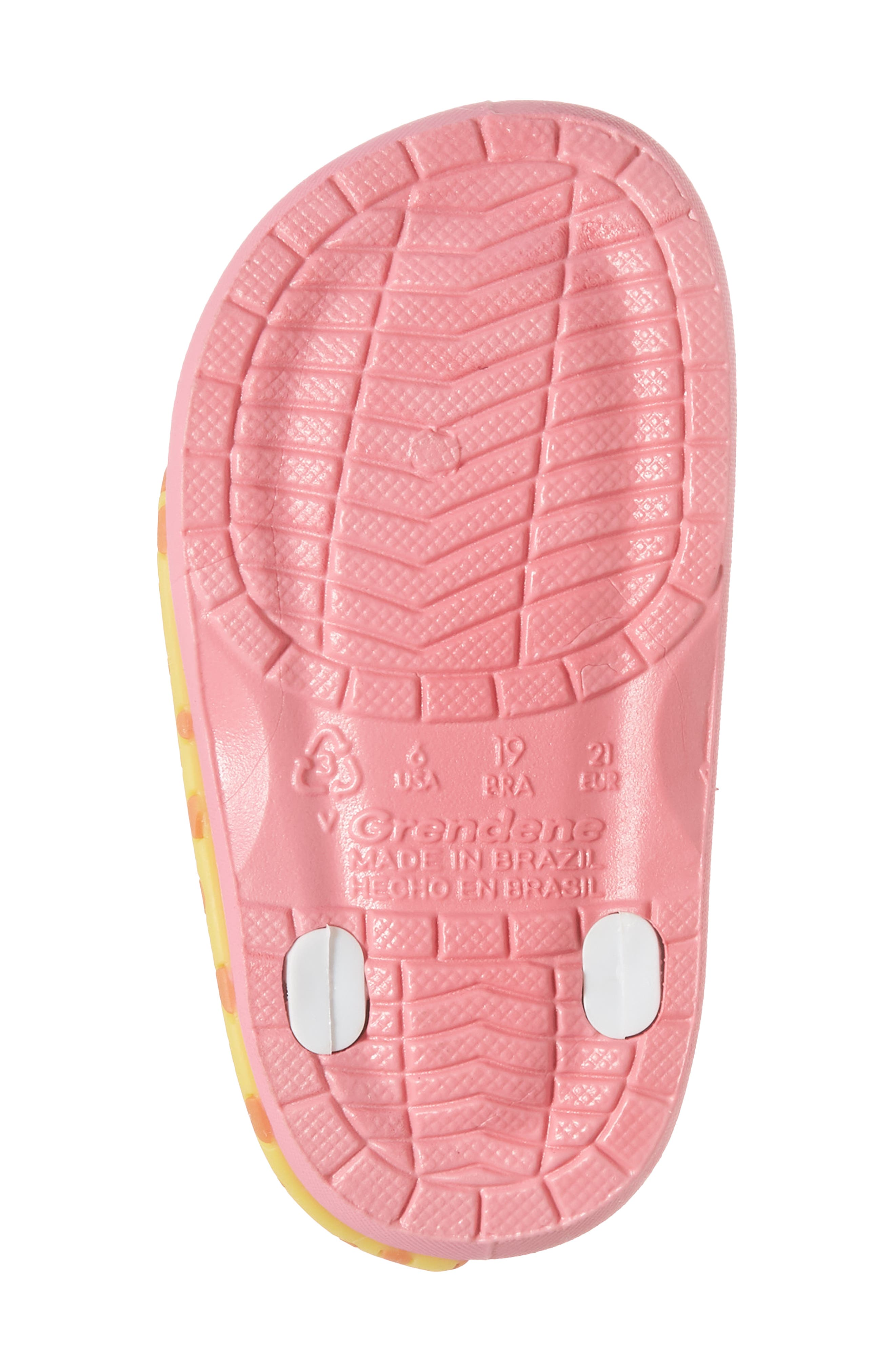 Summer Baby Waterproof Sandal,                             Alternate thumbnail 6, color,                             Pink/ White