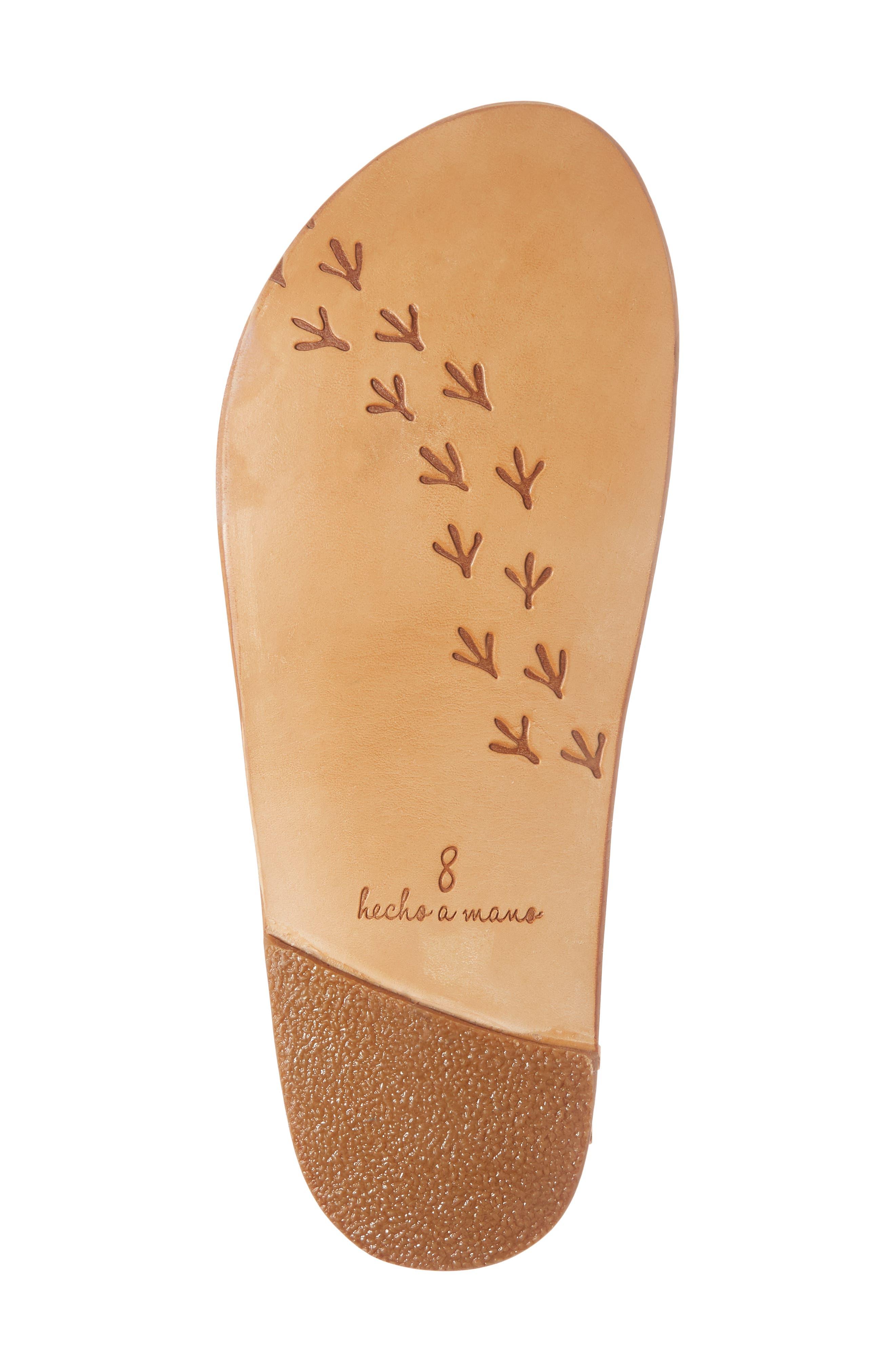 Lovebird Embroidered Slide Sandal,                             Alternate thumbnail 6, color,                             Multi/ Tan
