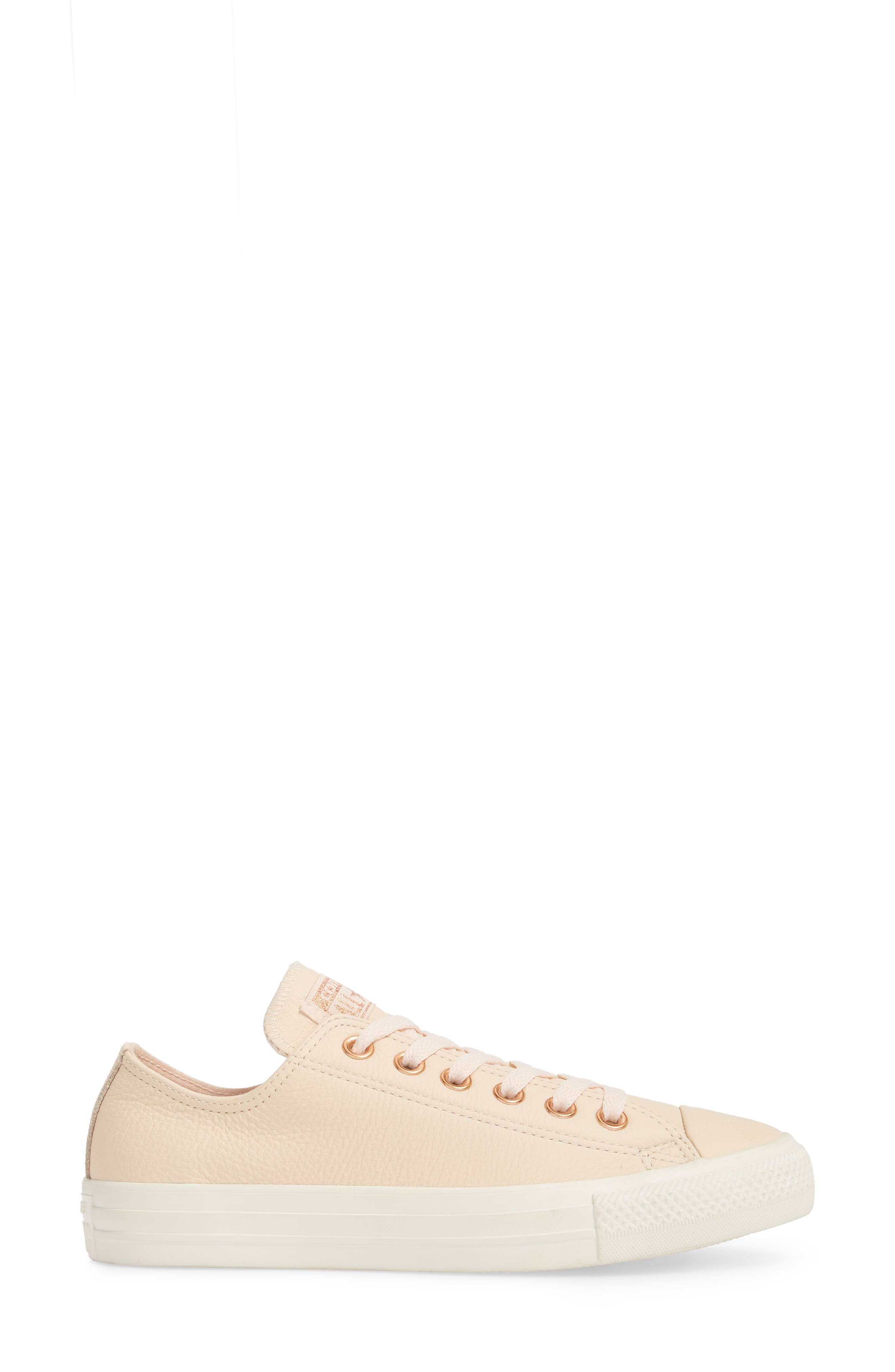 Chuck Taylor<sup>®</sup> All Star<sup>®</sup> Seasonal Ox Low Top Sneaker,                             Alternate thumbnail 3, color,                             Pastel Rose Leather