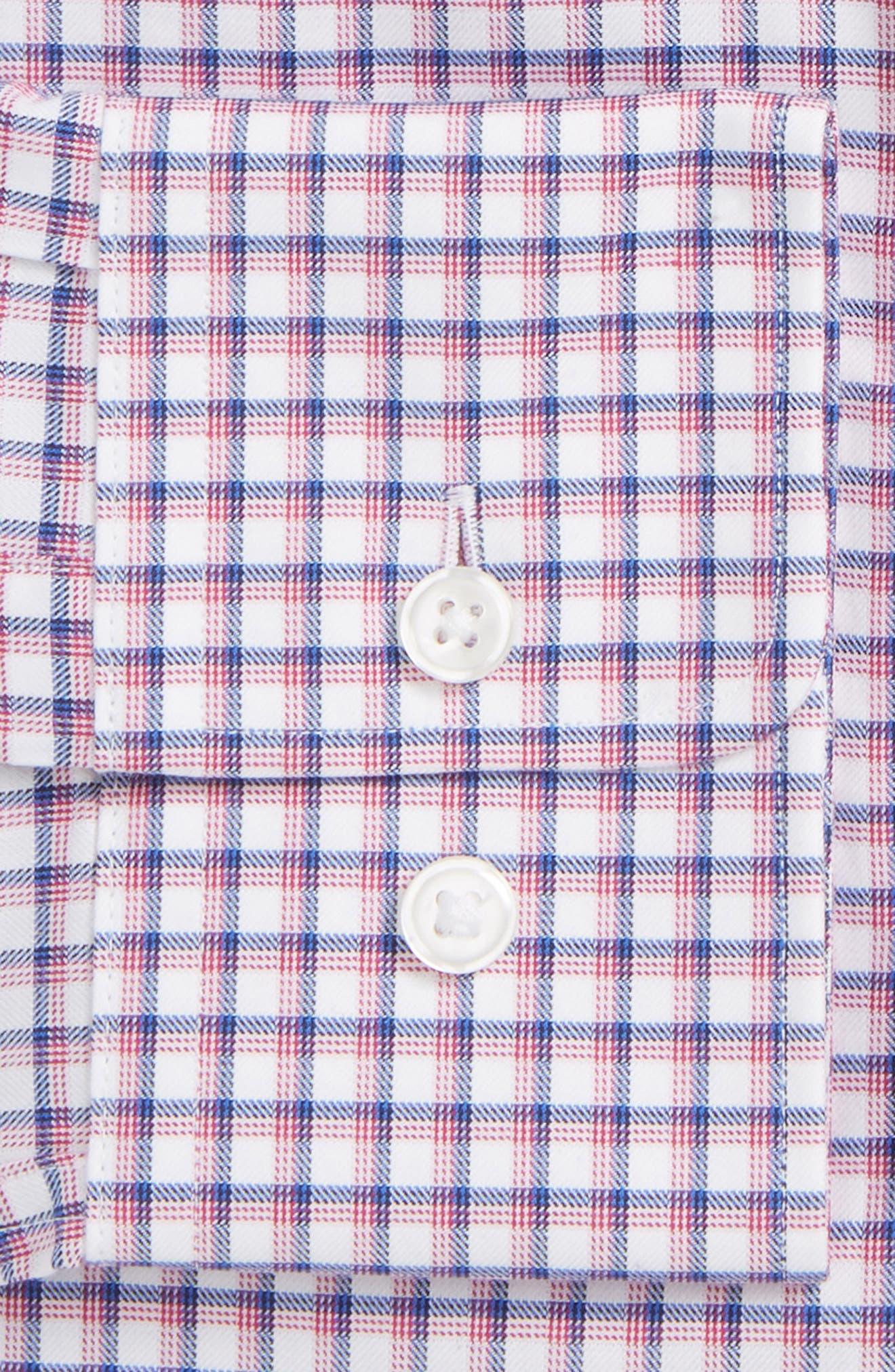 Marley Sharp Fit Plaid Dress Shirt,                             Alternate thumbnail 2, color,                             Pink