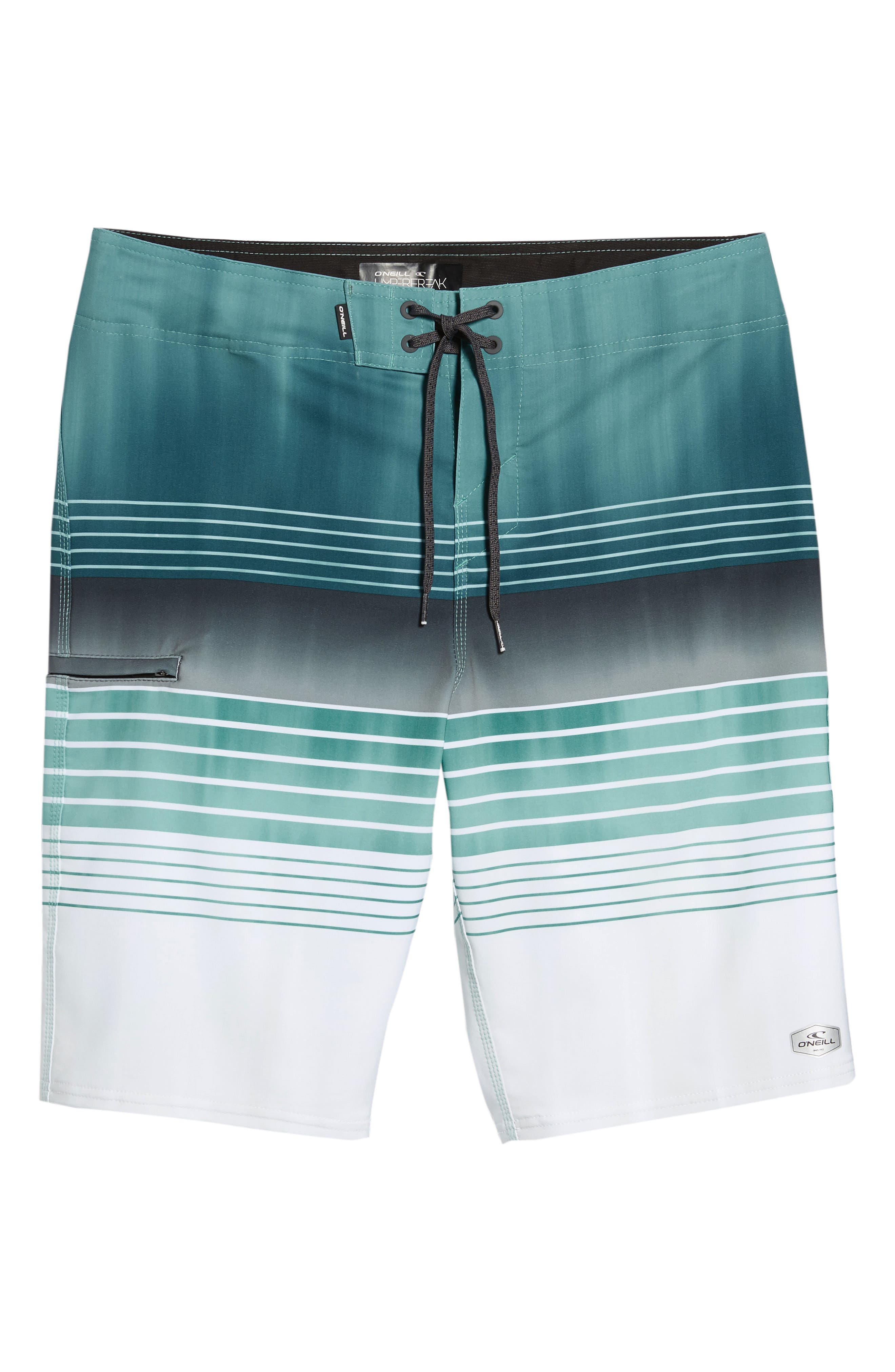 Hyperfreak Heist Board Shorts,                             Alternate thumbnail 6, color,                             Turquoise