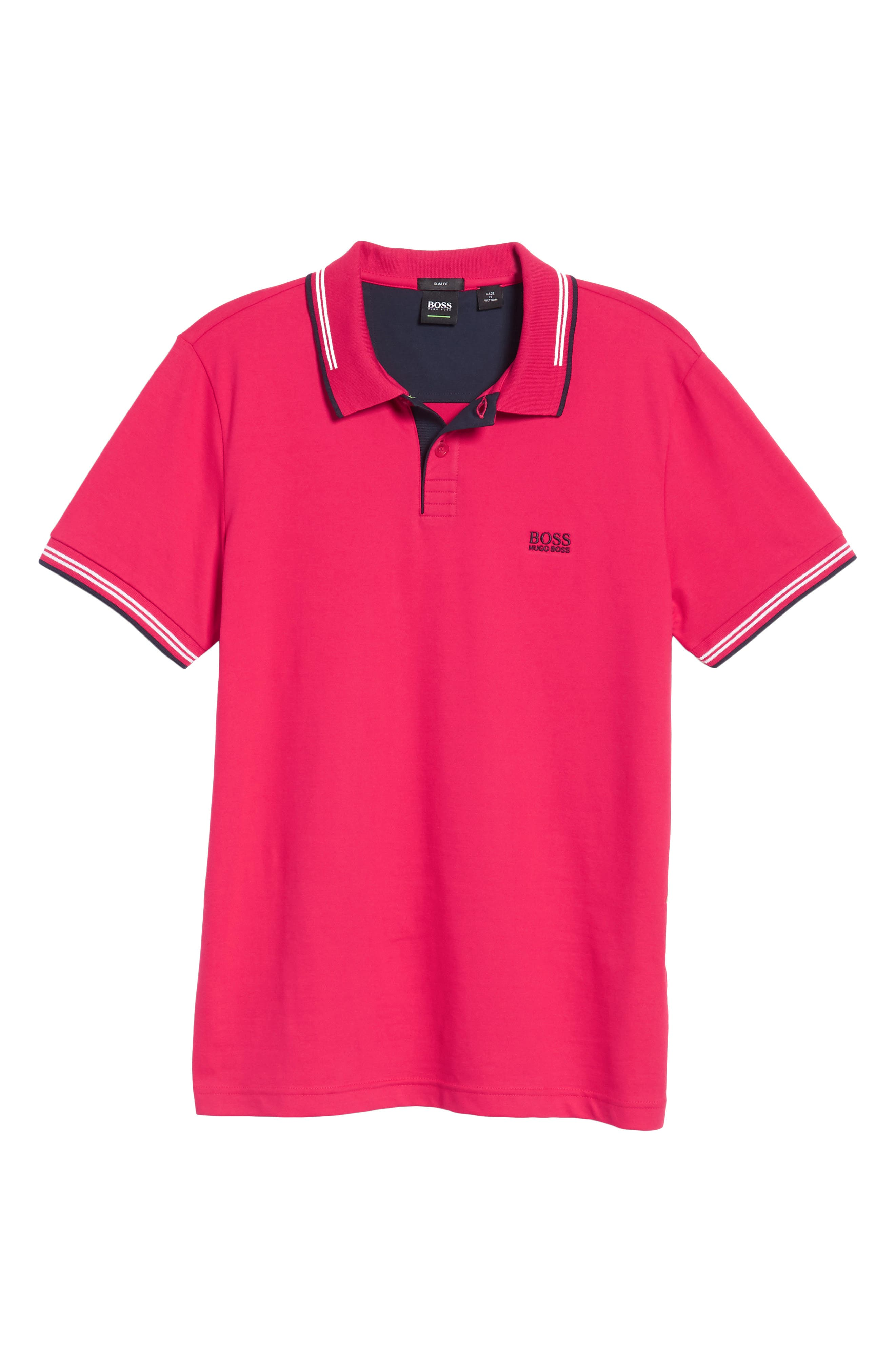Paul Slim Fit Polo,                             Alternate thumbnail 6, color,                             Red