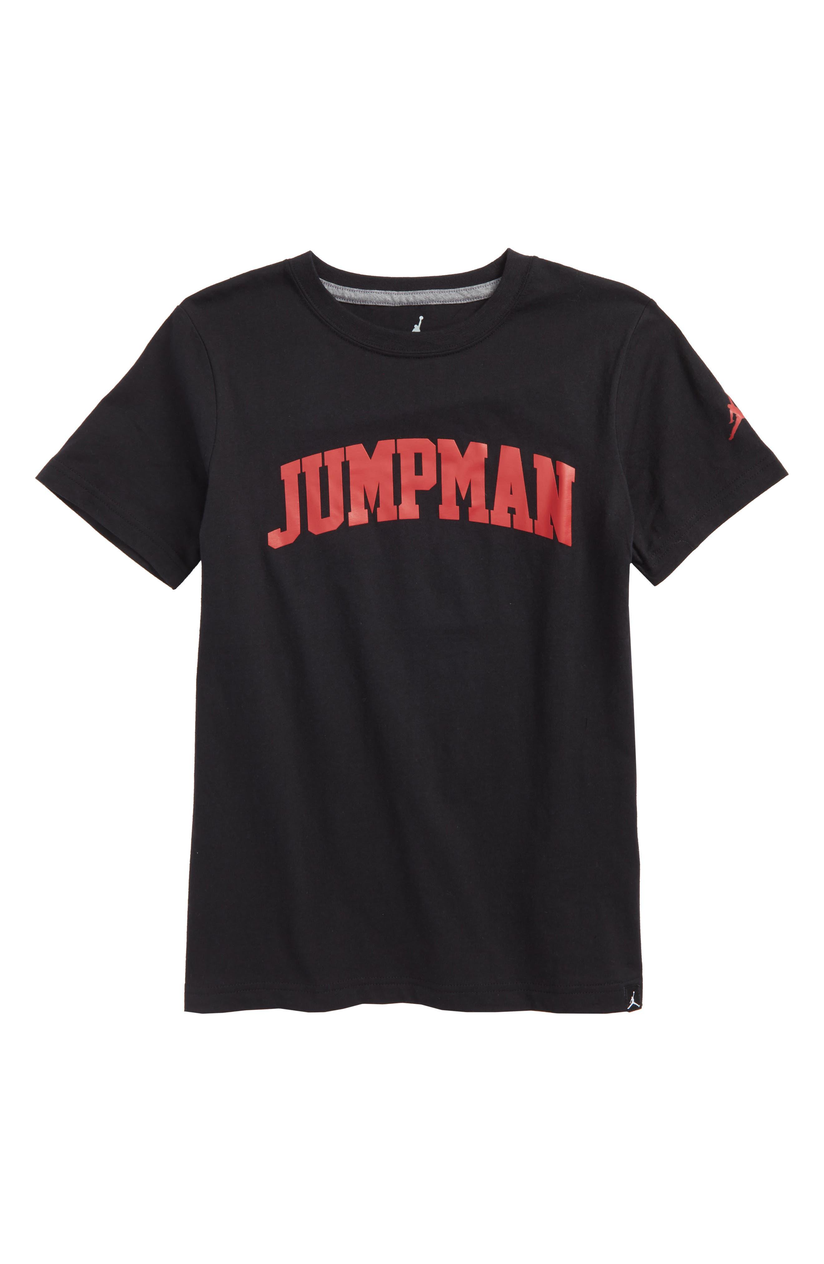 Jordan Brand Graphic T-Shirt,                             Main thumbnail 1, color,                             Black