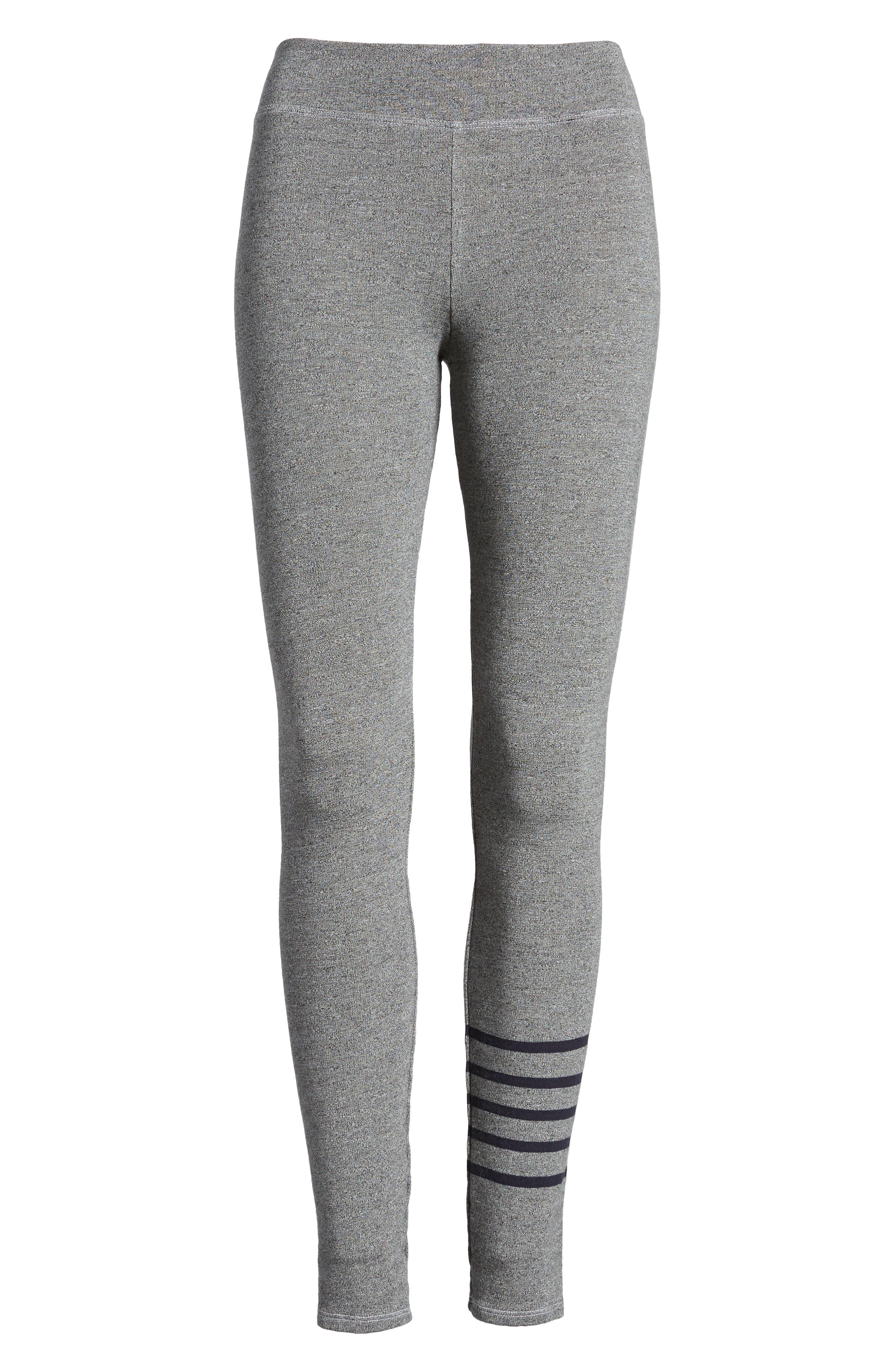 Stripe Yoga Pants,                             Alternate thumbnail 7, color,                             Heather Grey