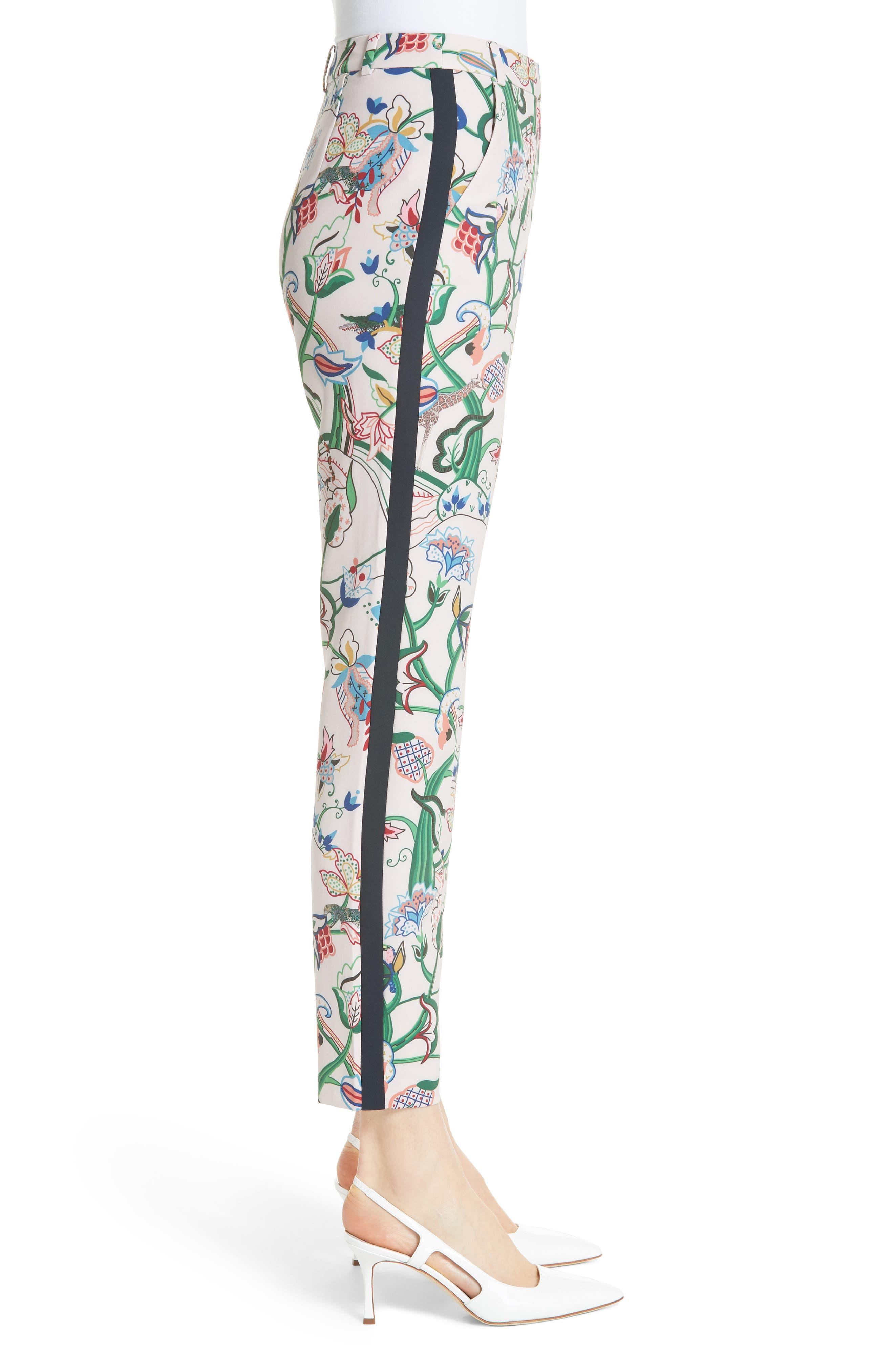 Tachi Jungle Print Trousers,                             Alternate thumbnail 3, color,                             Dusky Pink