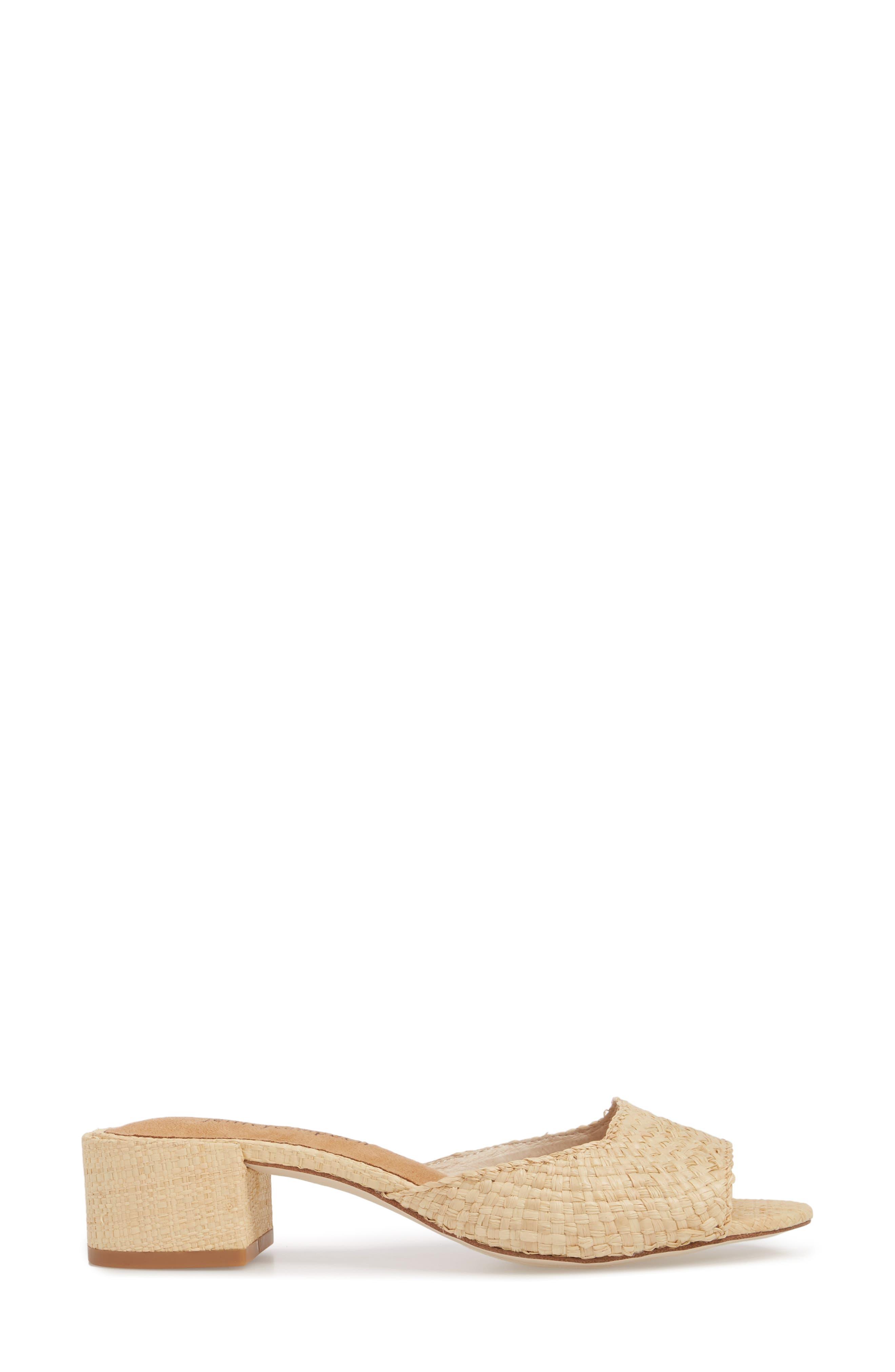 Mélange Slide Sandal,                             Alternate thumbnail 3, color,                             Natural