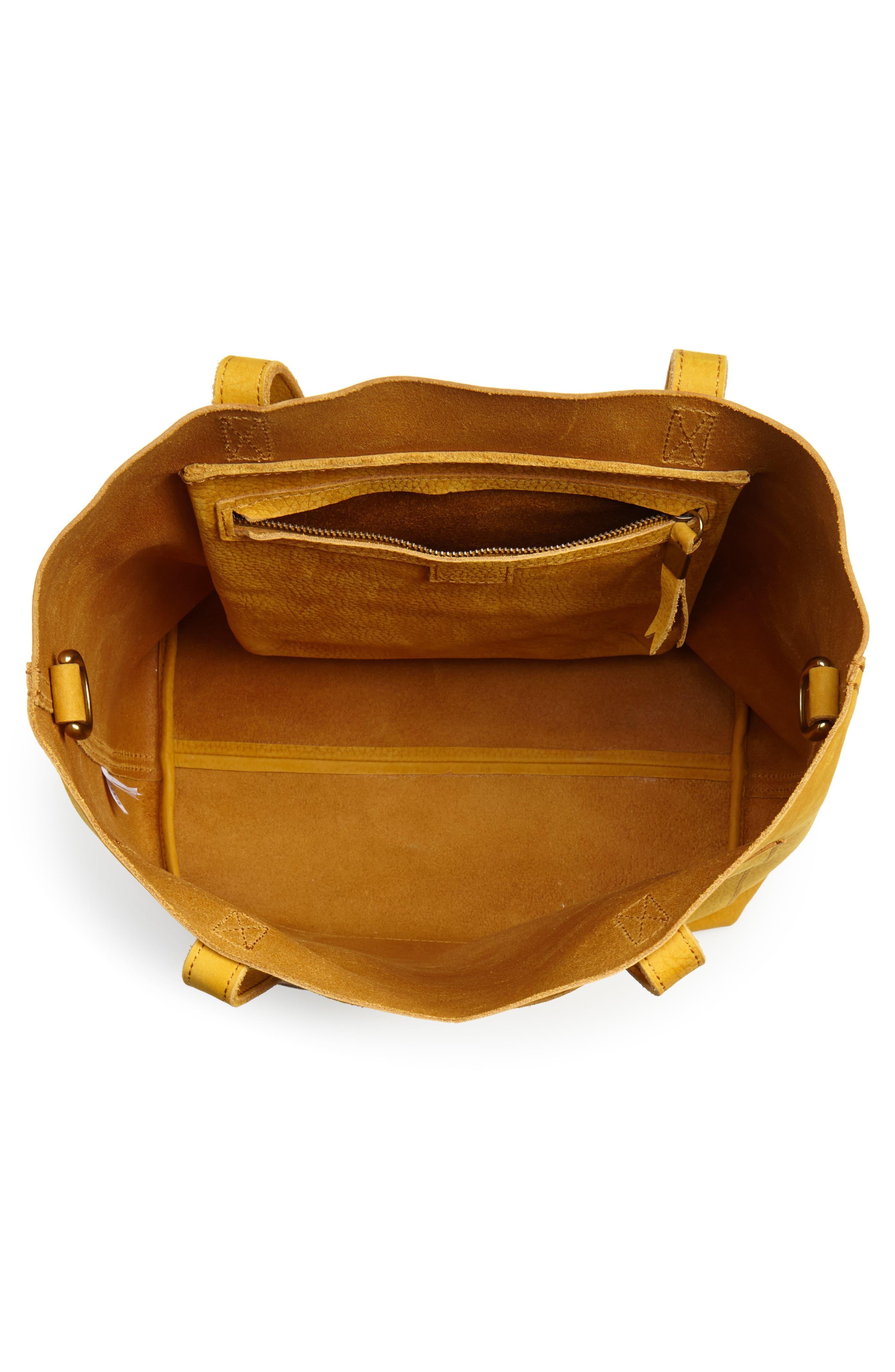 Medium Leather Transport Tote,                             Alternate thumbnail 5, color,                             Celestial Gold