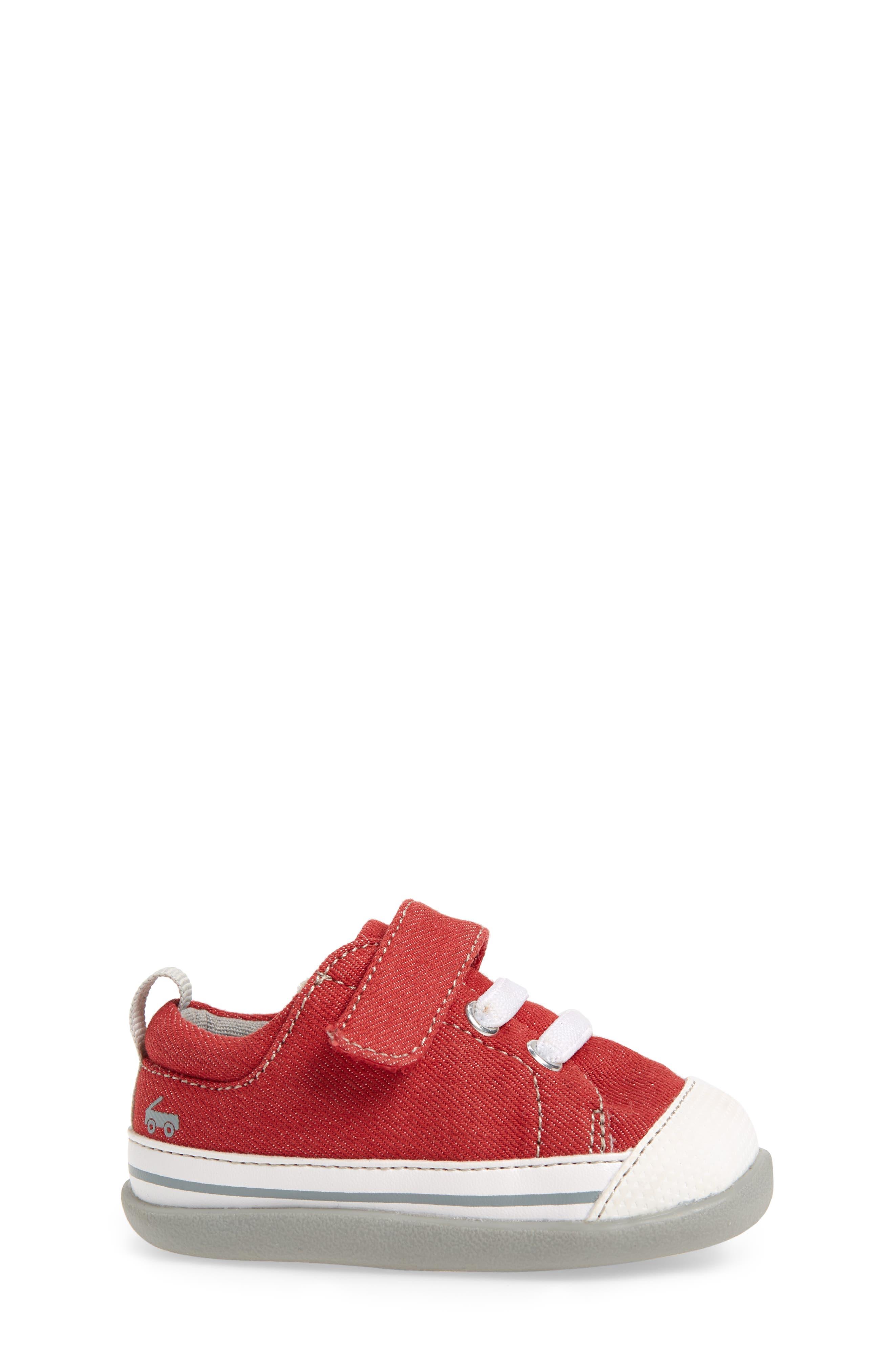 Stevie II Sneaker,                             Alternate thumbnail 3, color,                             Red/ Gray