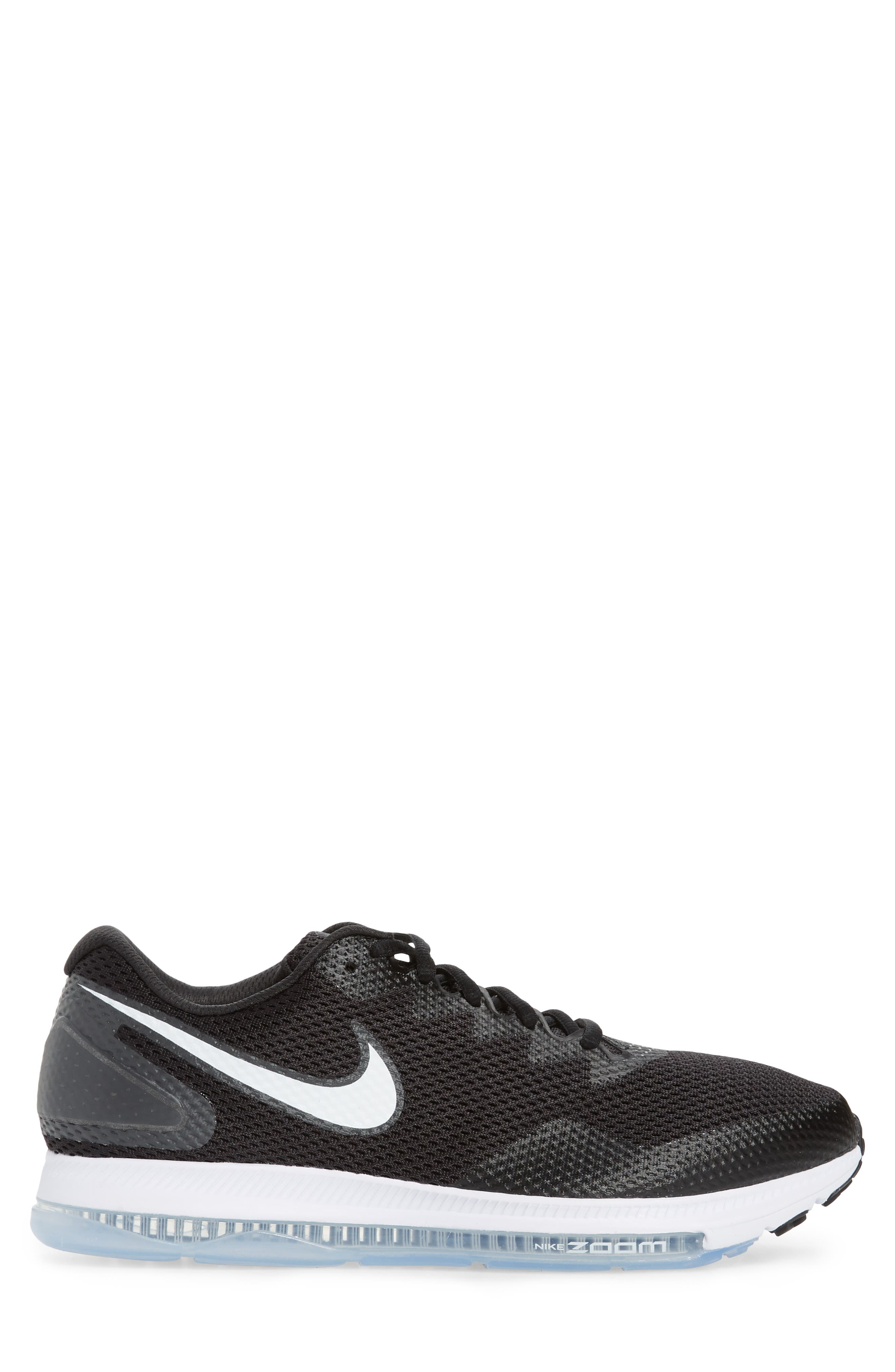 Zoom All Out Low 2 Running Shoe,                             Alternate thumbnail 3, color,                             Black/ White/ Anthracite