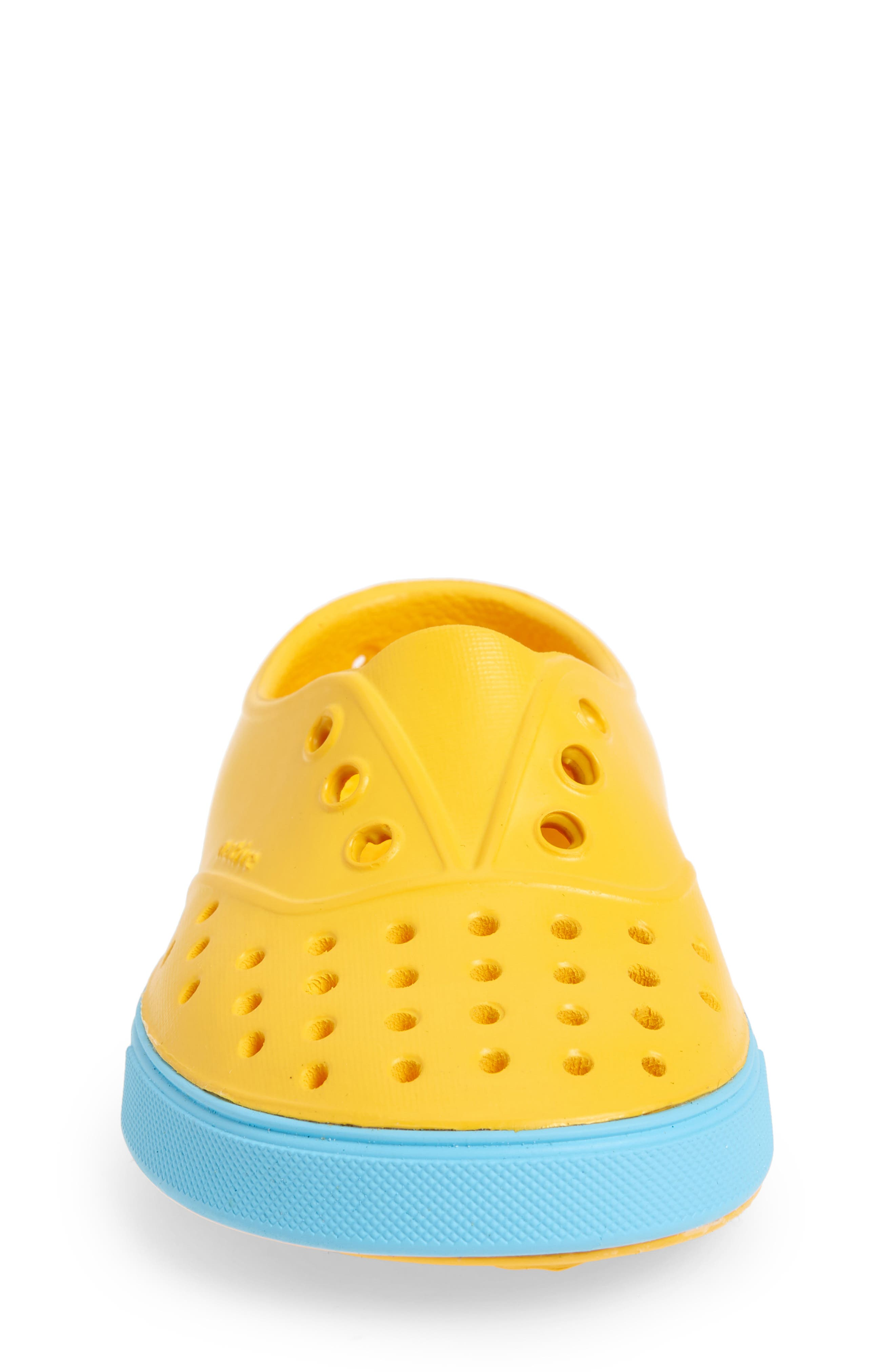 Miller Water Friendly Slip-On Sneaker,                             Alternate thumbnail 4, color,                             Yellow/ Surfer Blue