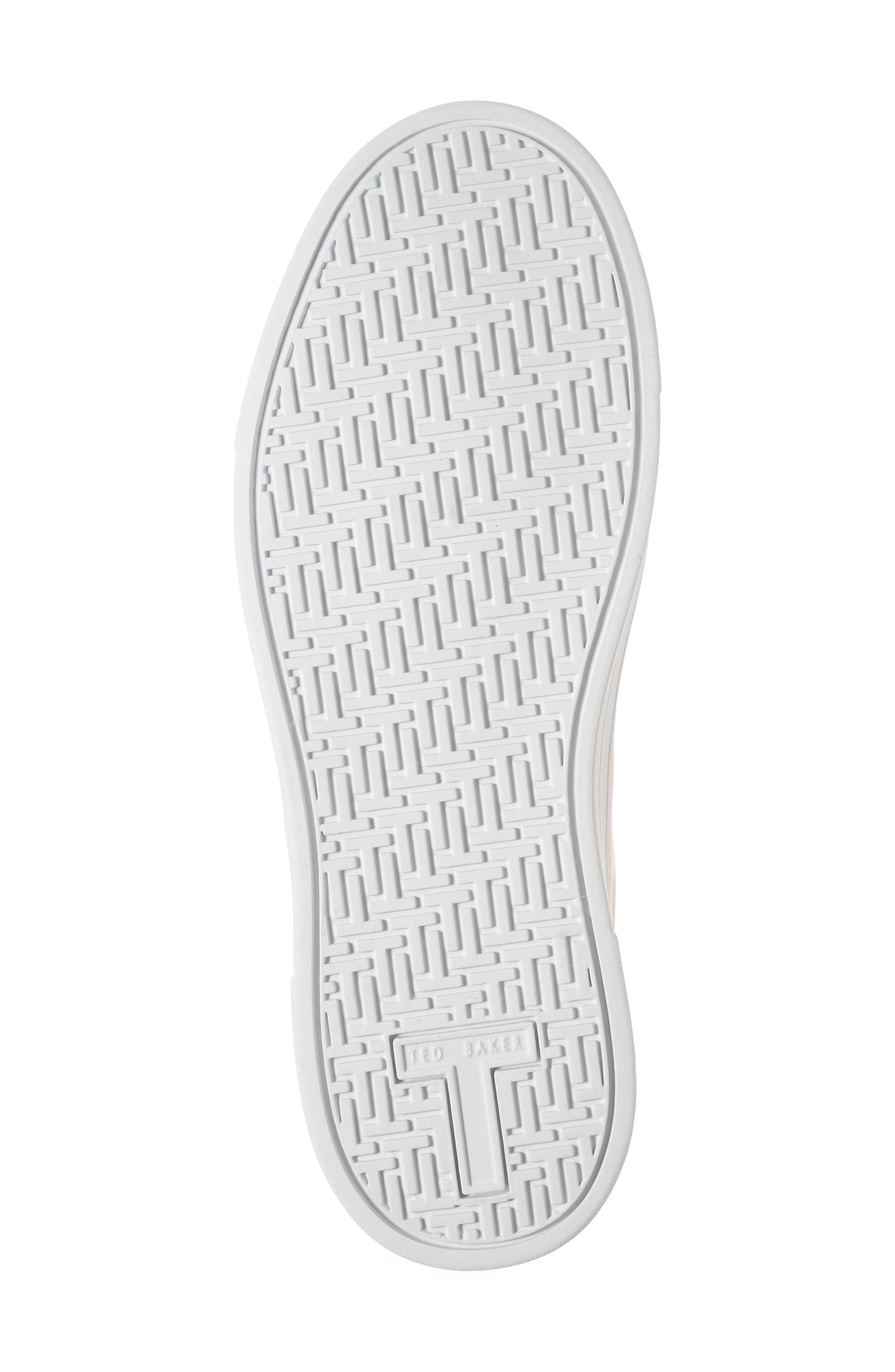 Kelleie Embroidered Sneaker,                             Alternate thumbnail 6, color,                             Mink Pink Leather