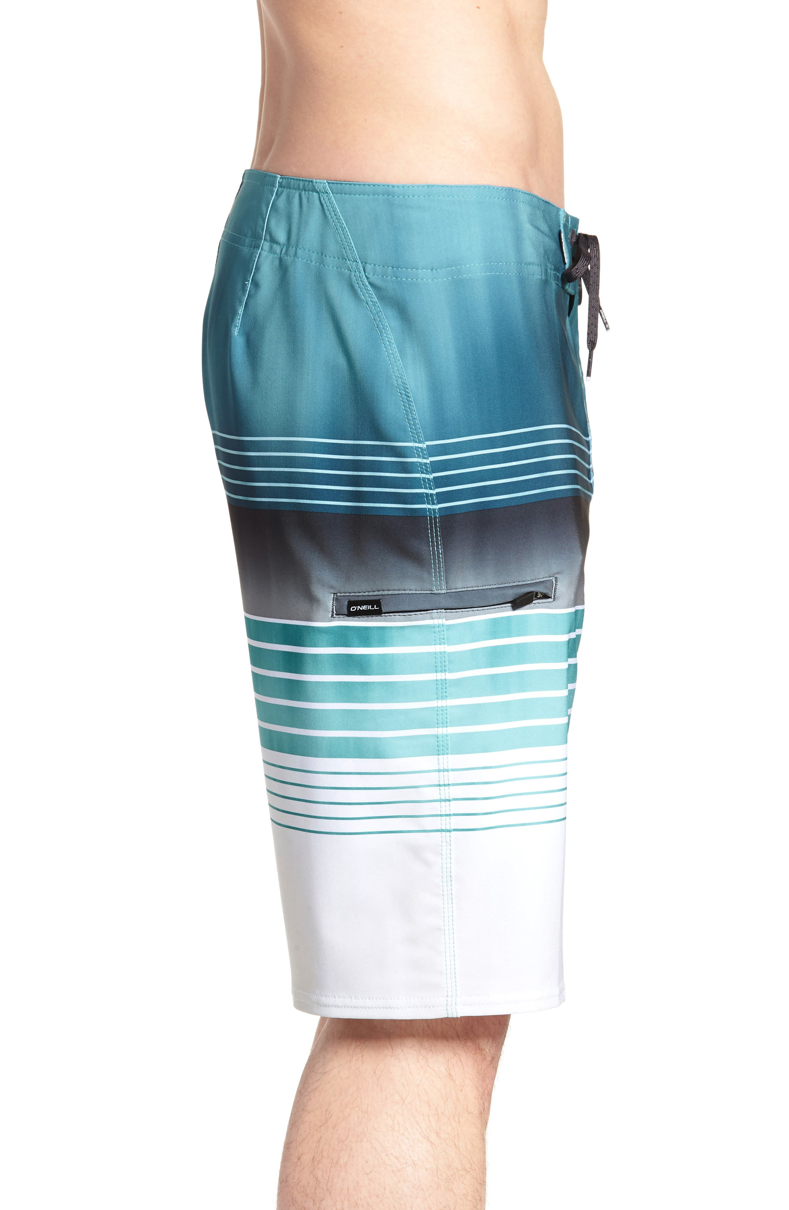 Hyperfreak Heist Board Shorts,                             Alternate thumbnail 5, color,                             Turquoise