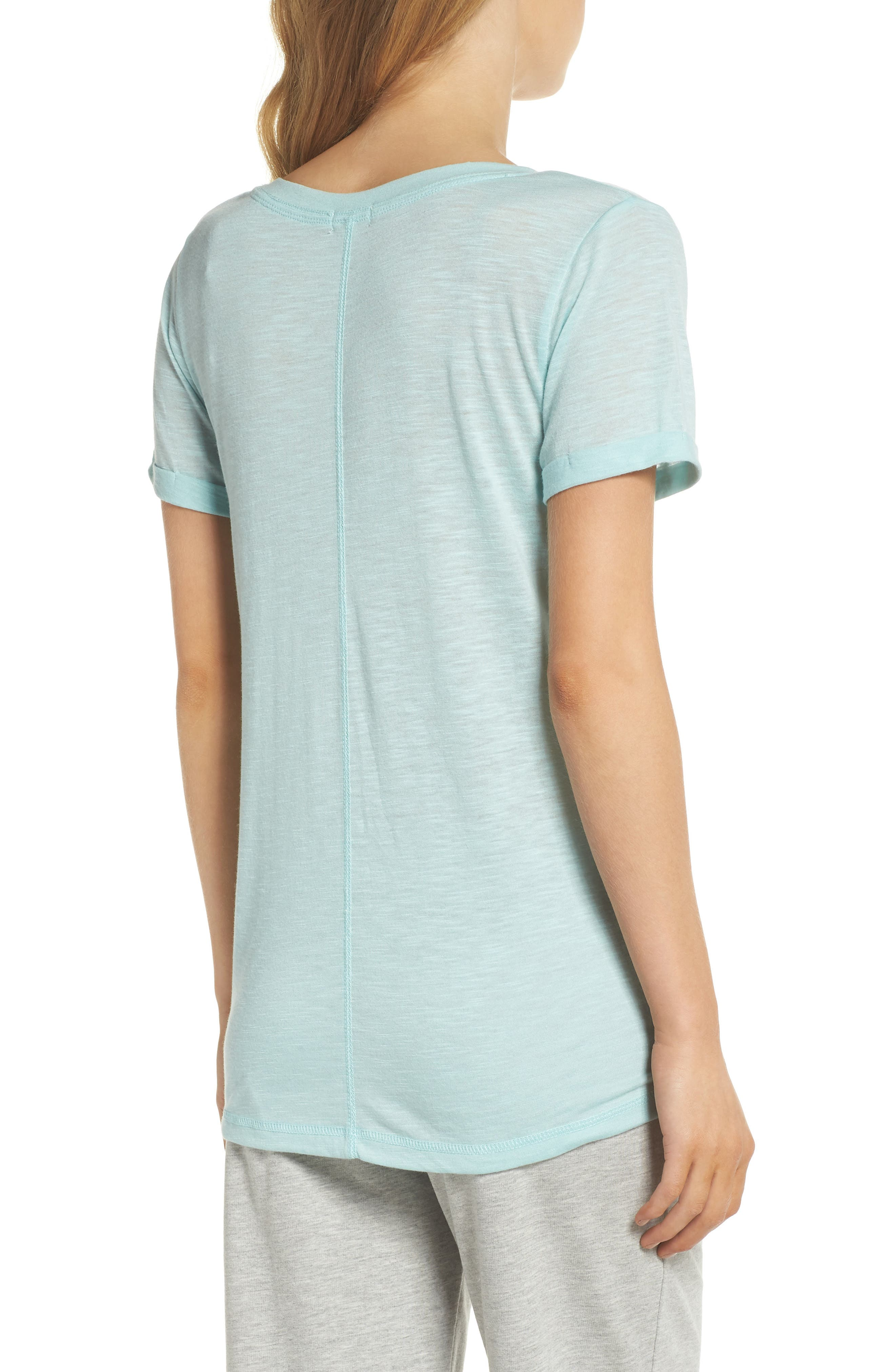 Graphic Sleep Tee,                             Alternate thumbnail 2, color,                             Mint
