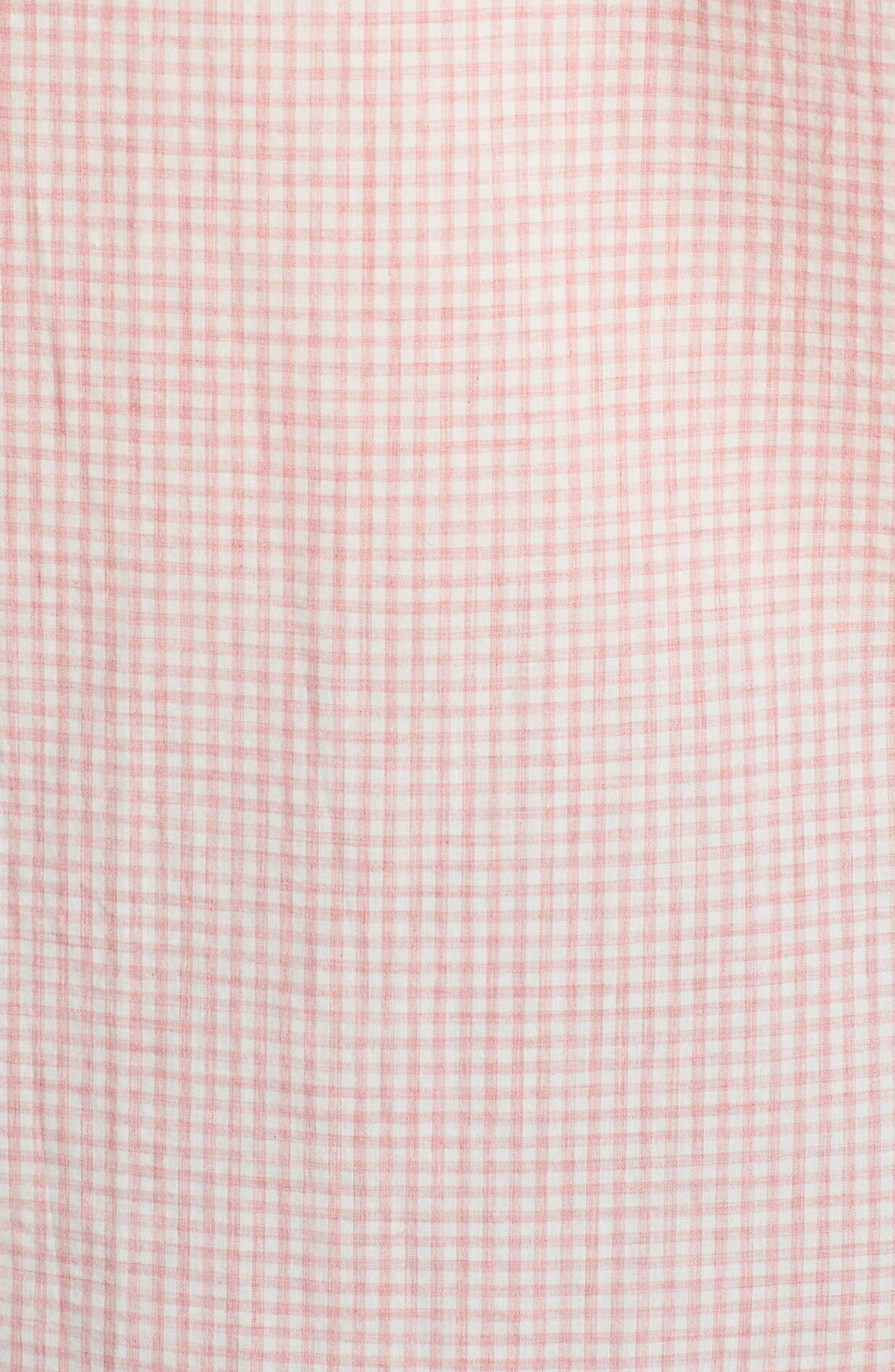 Summerweight Slim Fit Check Sport Shirt,                             Alternate thumbnail 5, color,                             Mini Gingham - Heather Rose