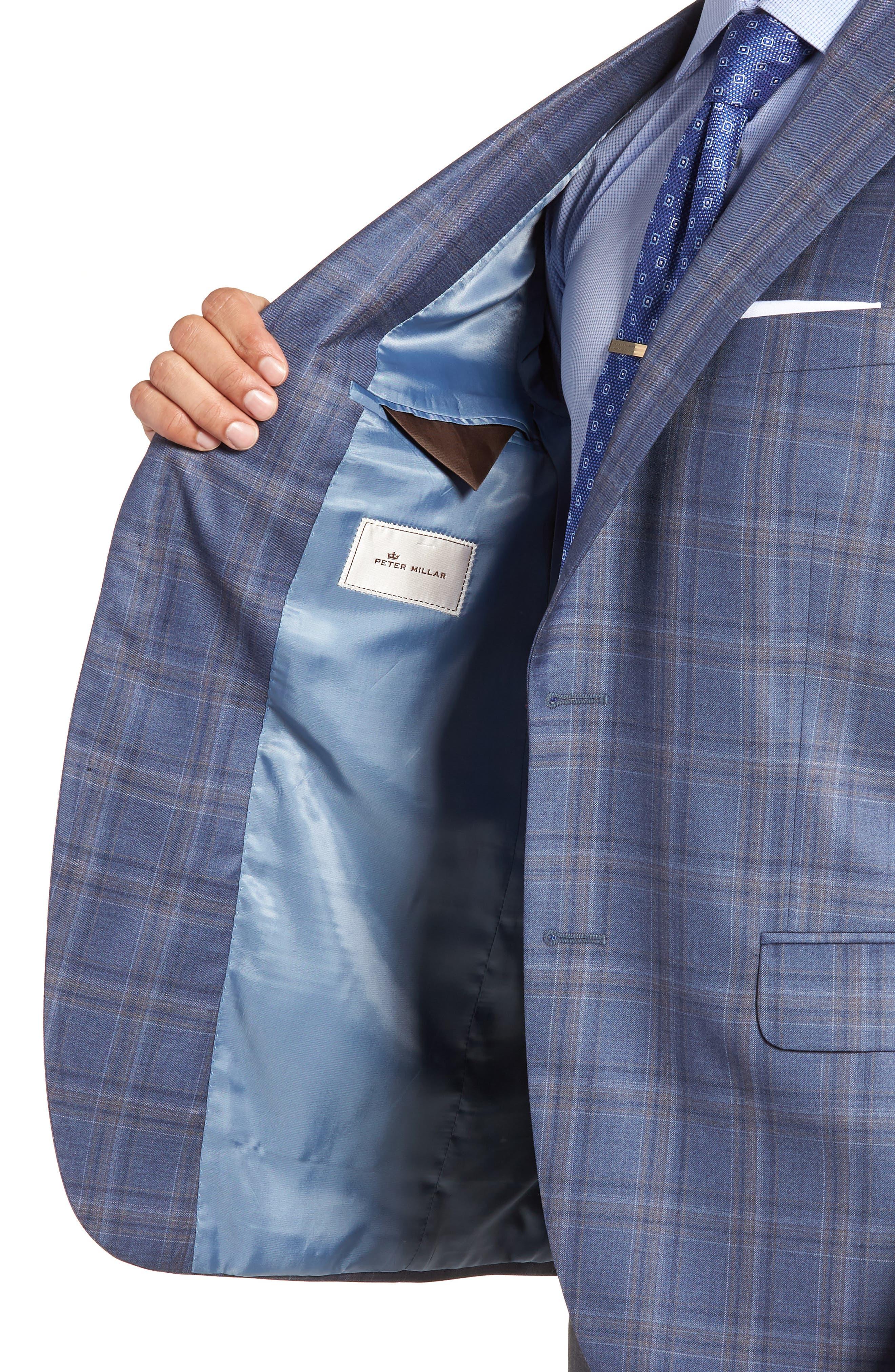 Alternate Image 4  - Peter Millar Classic Fit Windowpane Wool Sport Coat