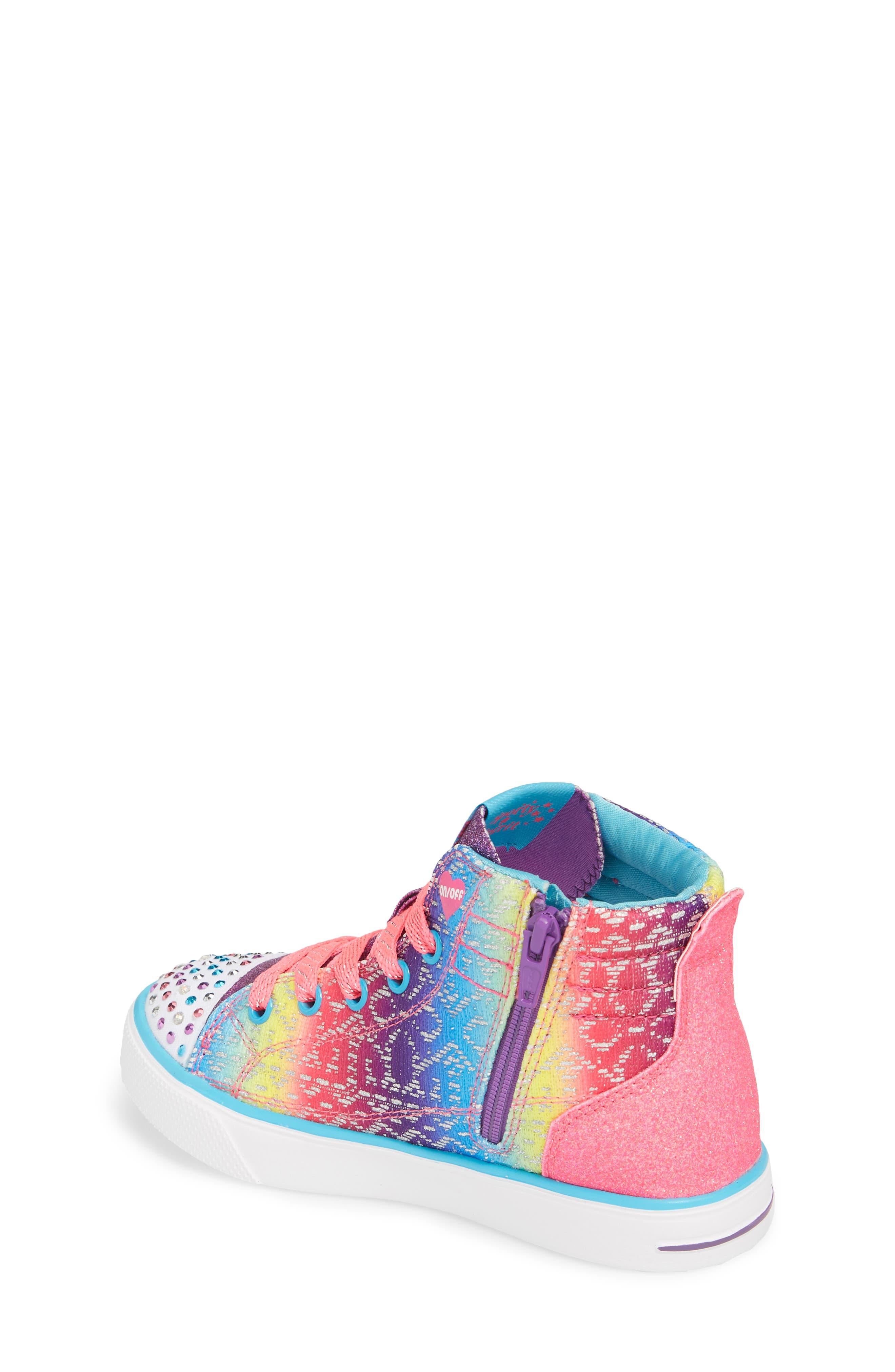 Alternate Image 2  - SKECHERS Twinkle Toes Breeze 2.0 Light-Up High Top Sneaker (Toddler, Little Kid & Big Kid)
