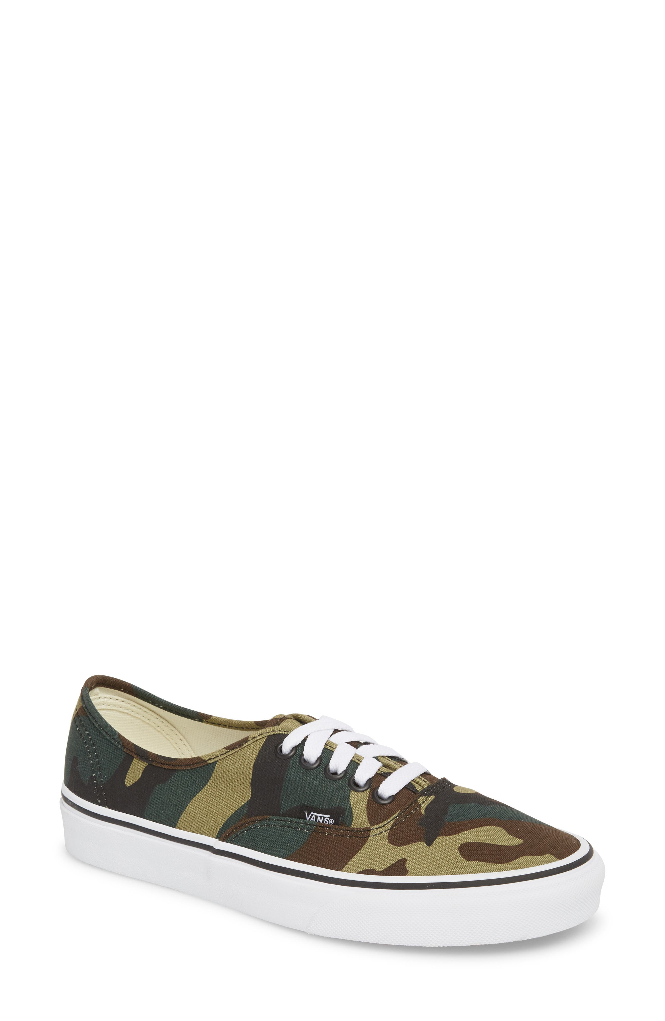 'Authentic' Sneaker,                             Main thumbnail 1, color,                             Black / Woodland