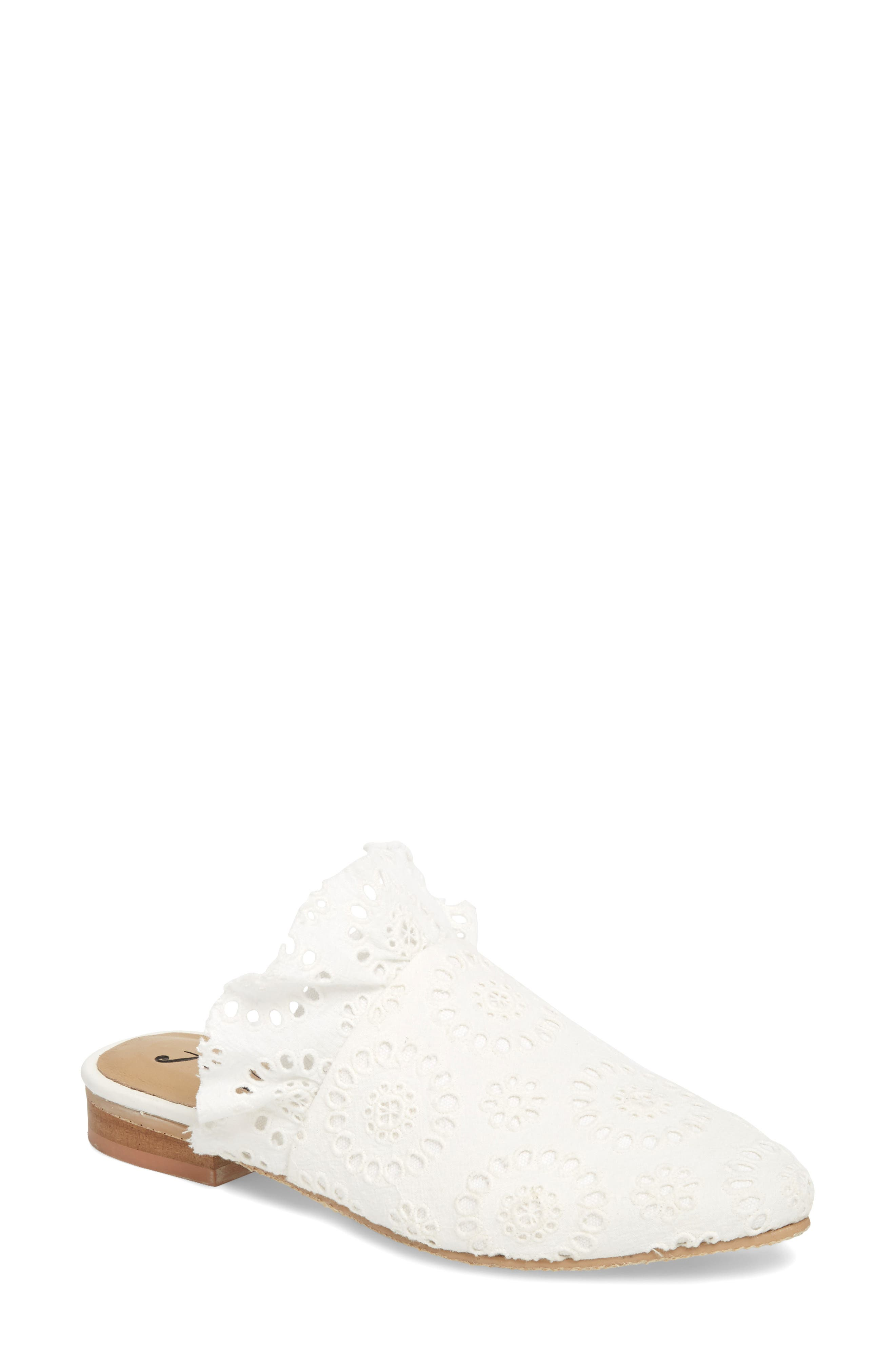 Eyelet Sienna Mule,                         Main,                         color, White