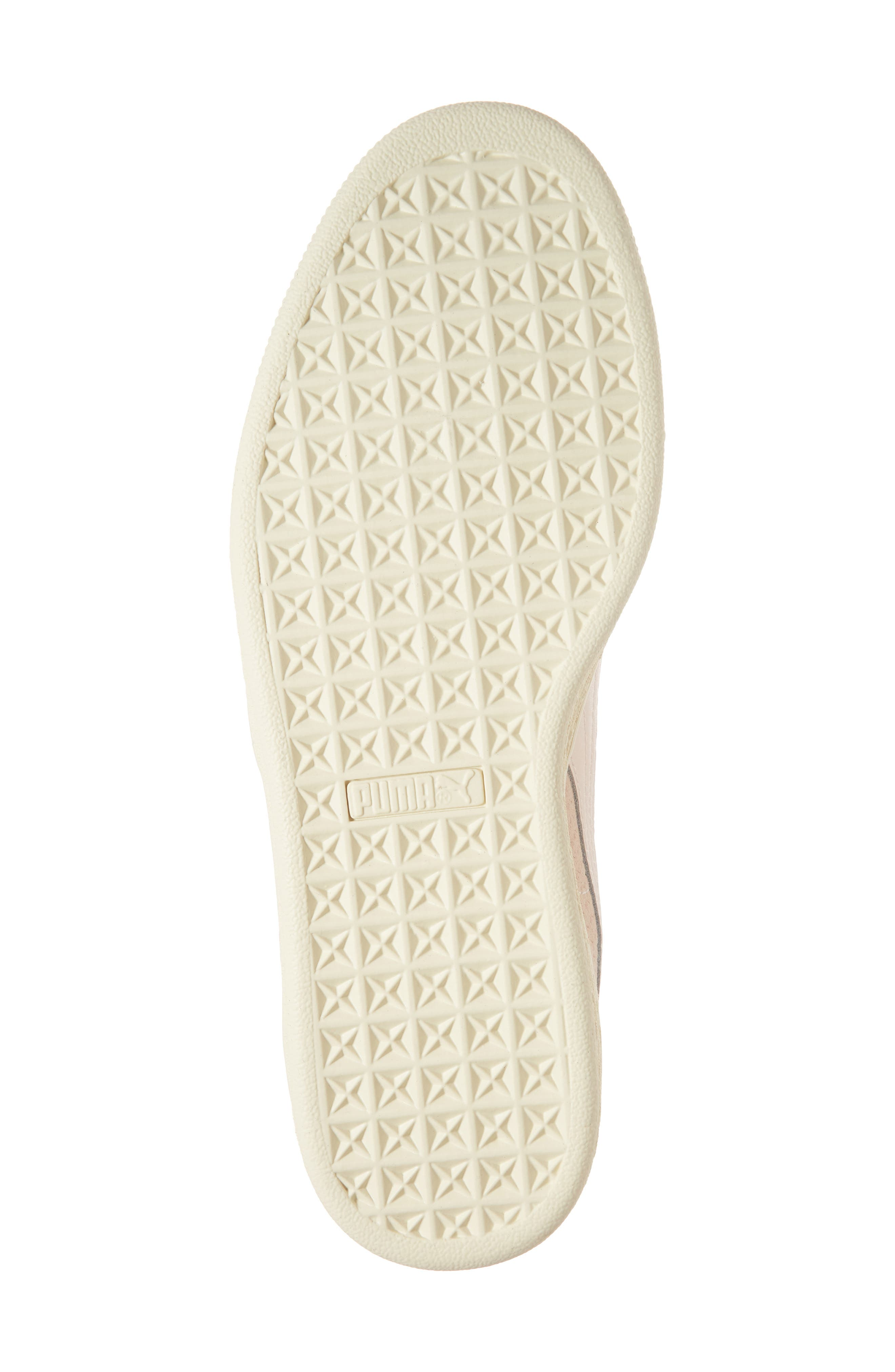 Suede Classic Perforation Sneaker,                             Alternate thumbnail 6, color,                             Pearl/ Whisper White Suede