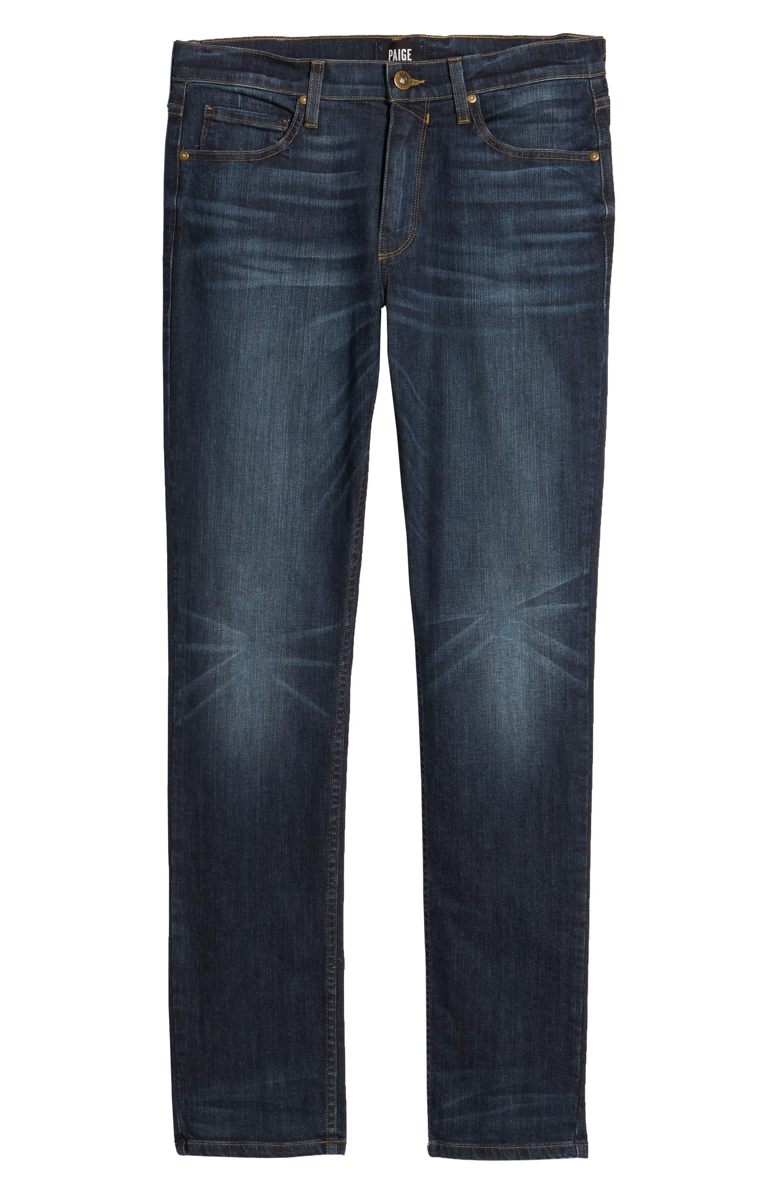 Transcend - Lennox Slim Fit Jeans,                             Alternate thumbnail 6, color,                             Hestan
