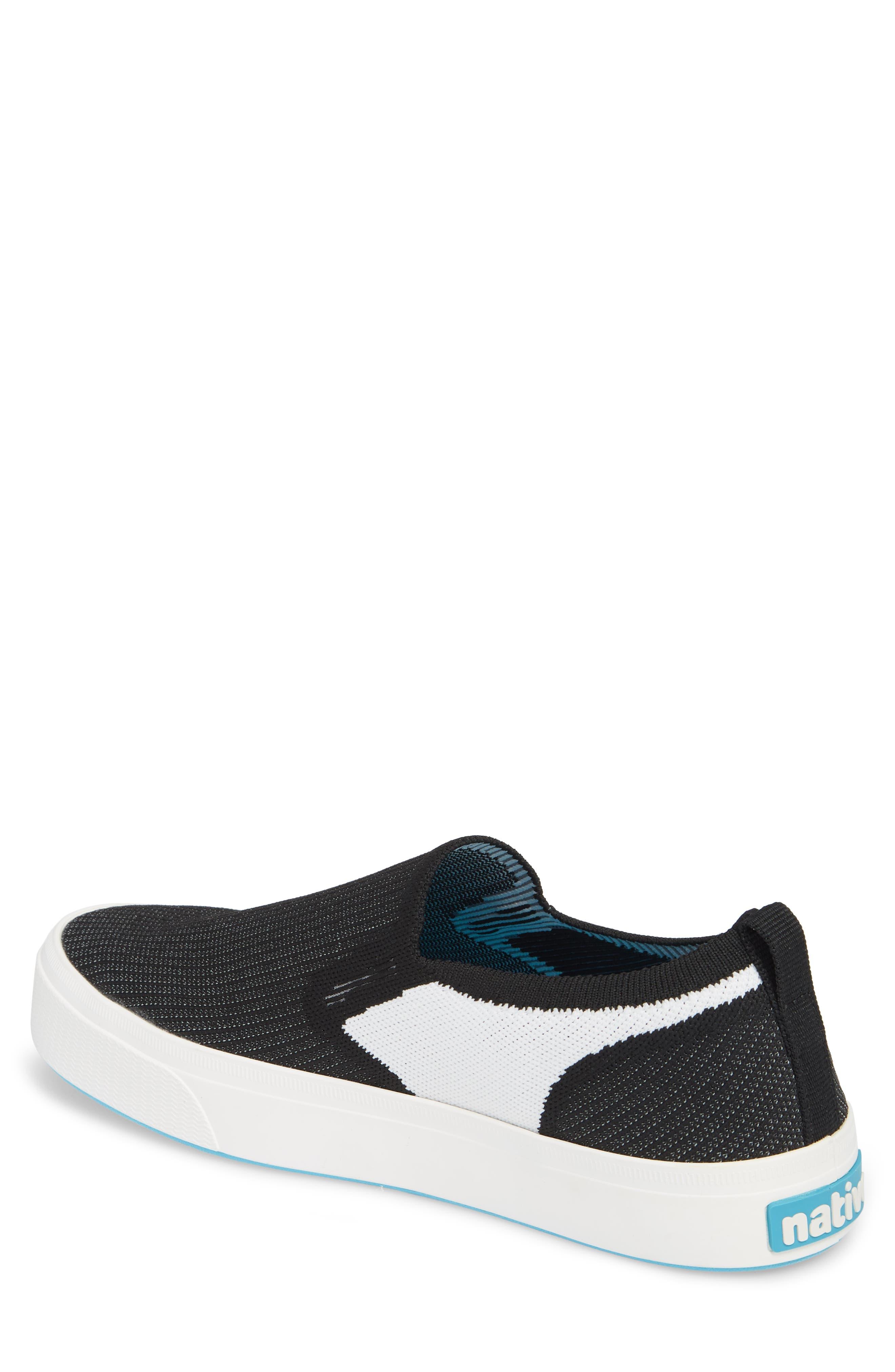 Native Miles LiteKnit Slip-On Sneaker,                             Alternate thumbnail 2, color,                             Jiffy Black/ Shell White